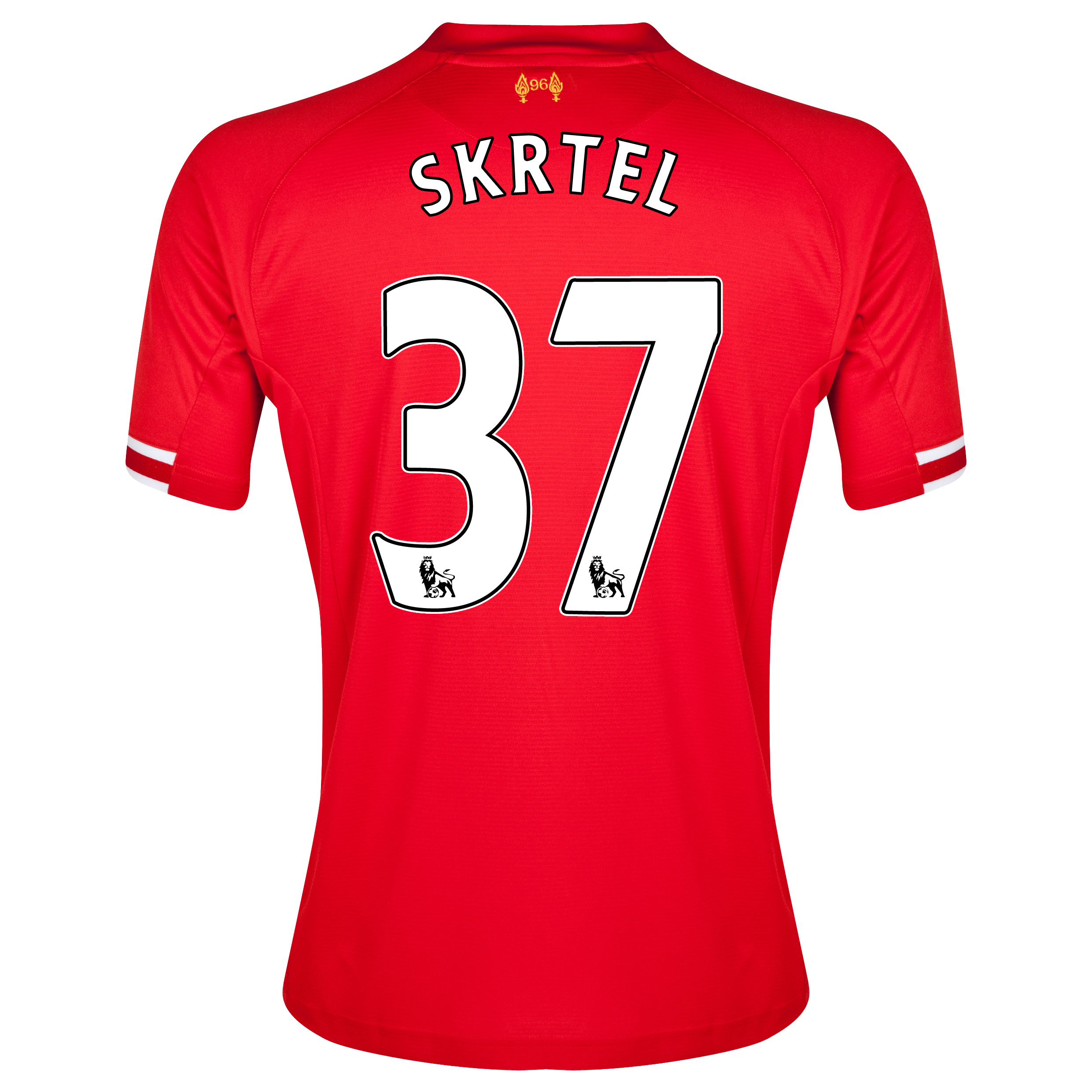Liverpool Home Shirt 2013/14 with Skrtel 37 printing