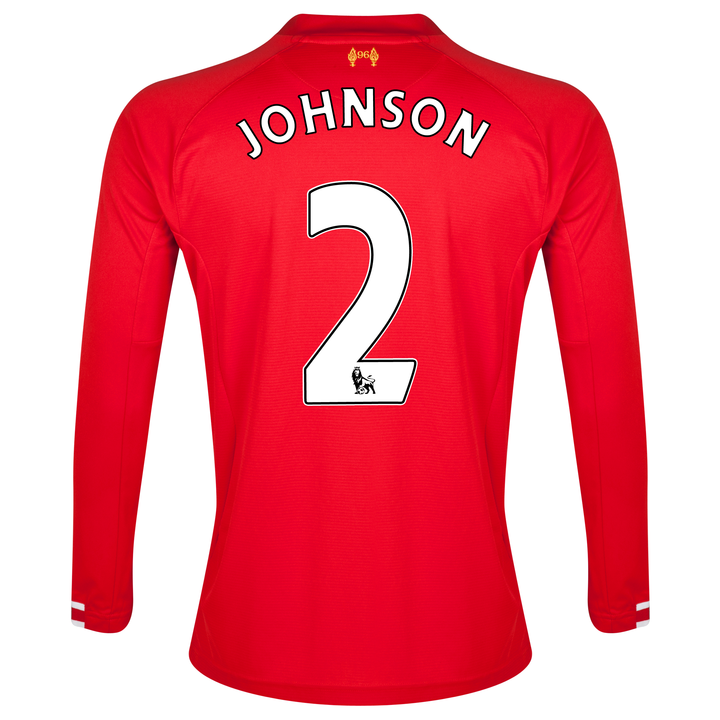 Liverpool Home Shirt 2013/14 Long sleeve with Johnson 2 printing