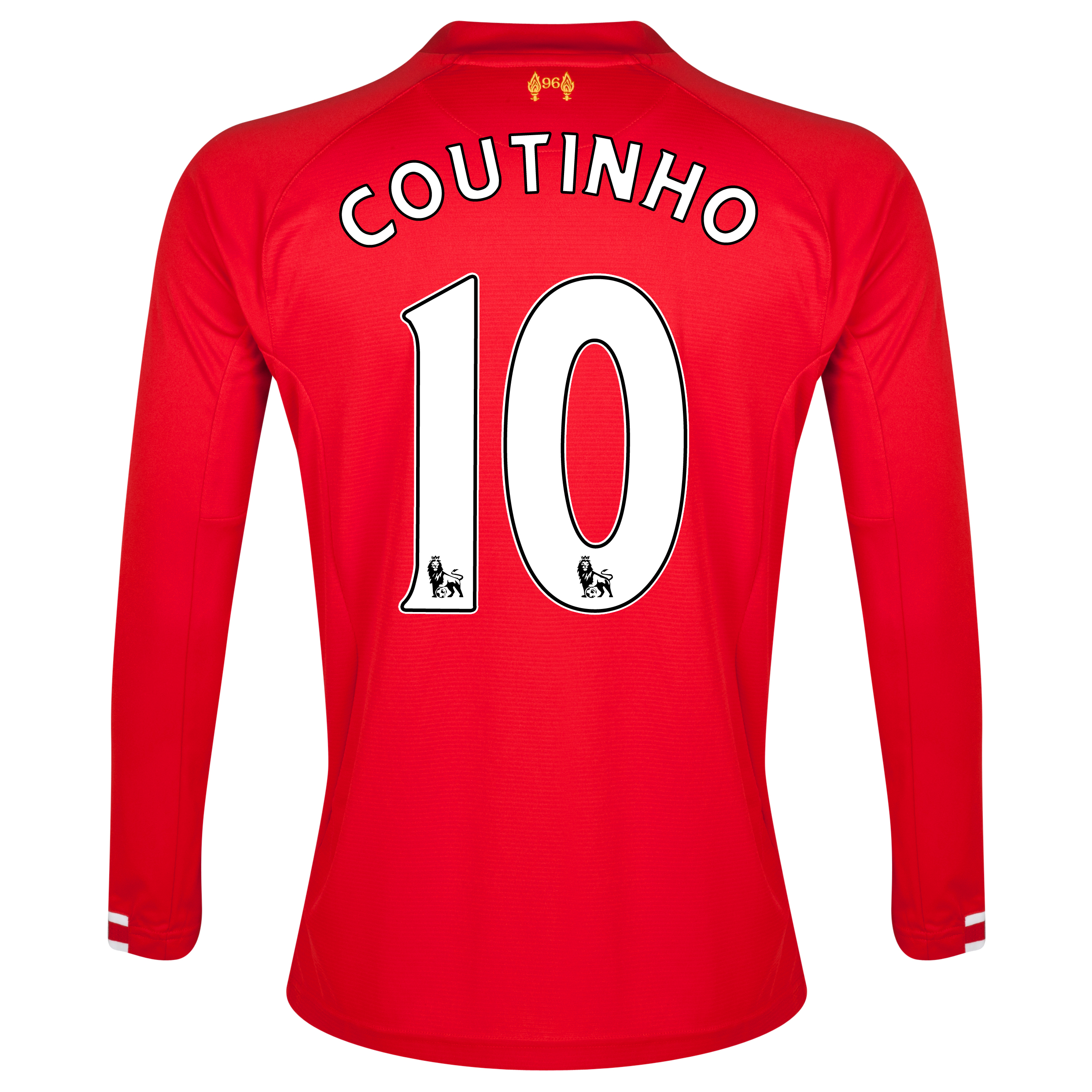 Liverpool Home Shirt 2013/14 Long sleeve with Coutinho 10 printing