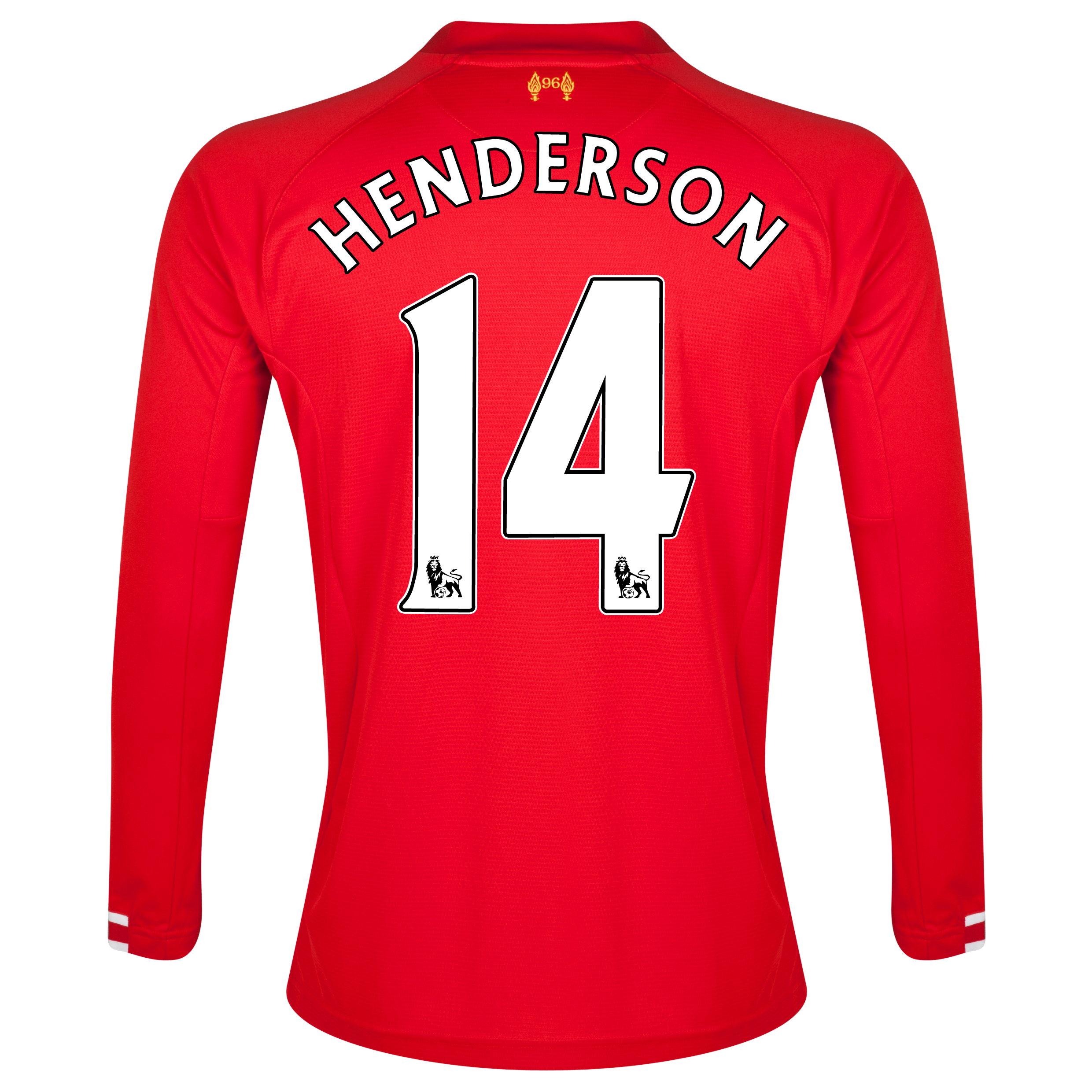 Liverpool Home Shirt 2013/14 Long sleeve with Henderson 14 printing