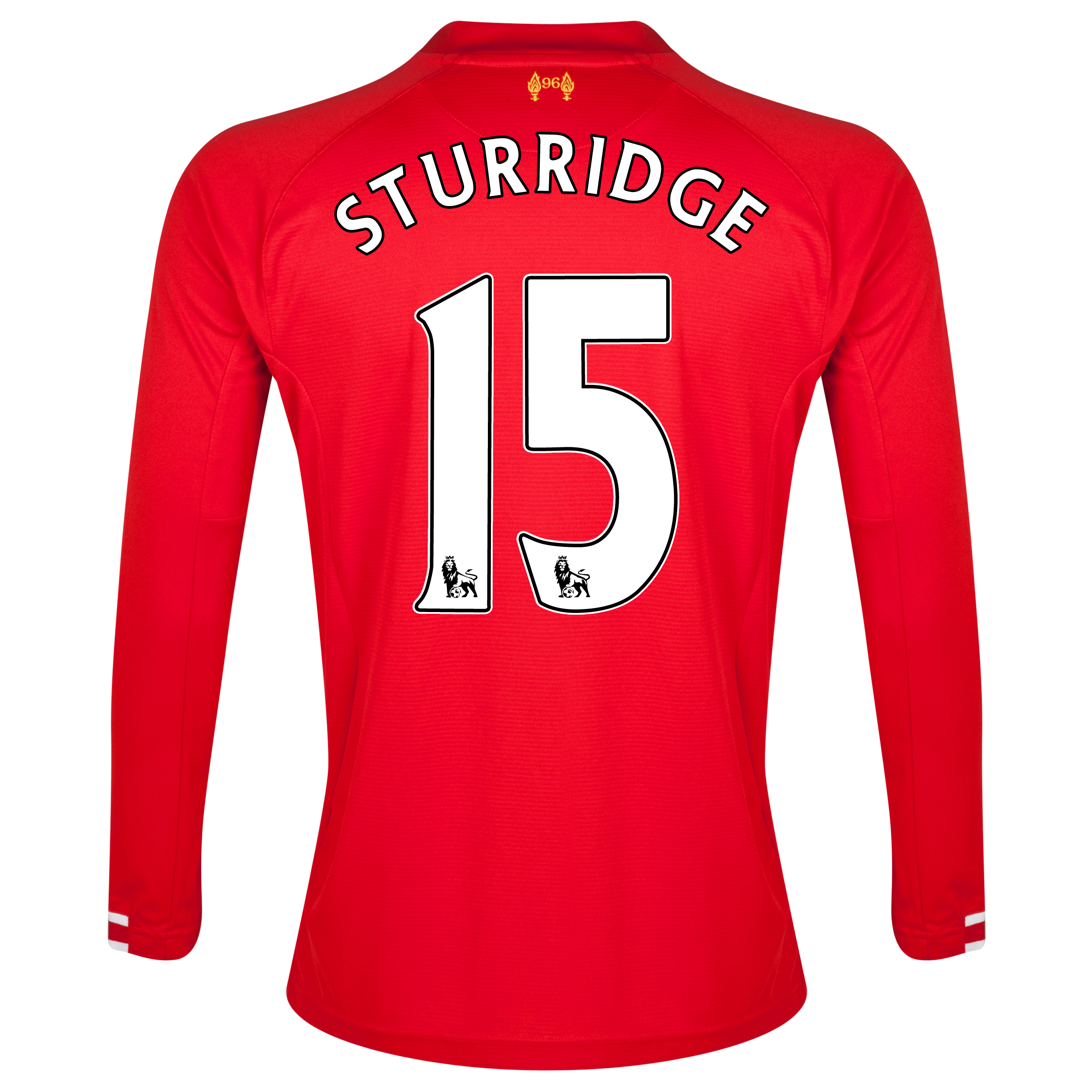 Liverpool Home Shirt 2013/14 Long sleeve with Sturridge 15 printing