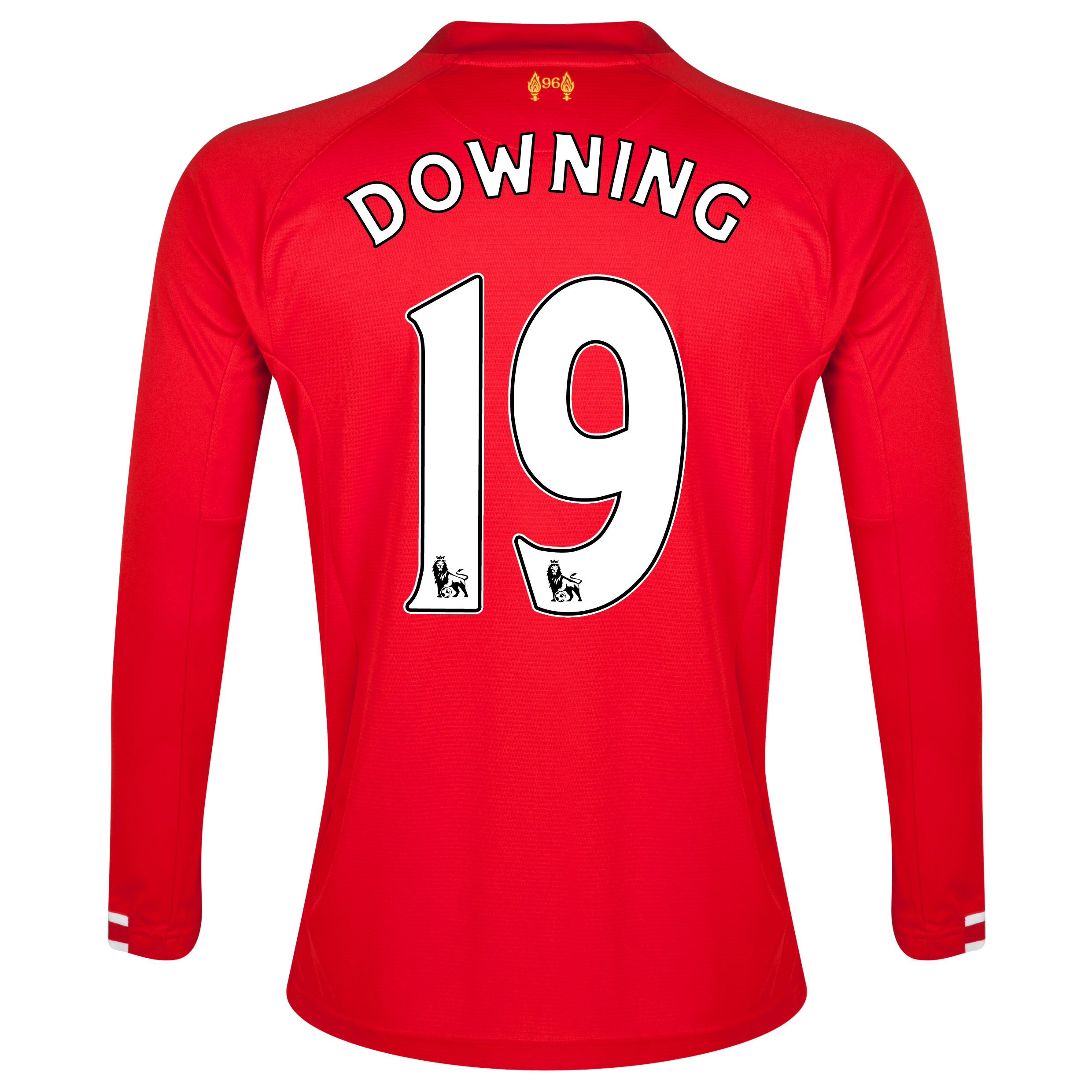 Liverpool Home Shirt 2013/14 Long sleeve with Downing 19 printing