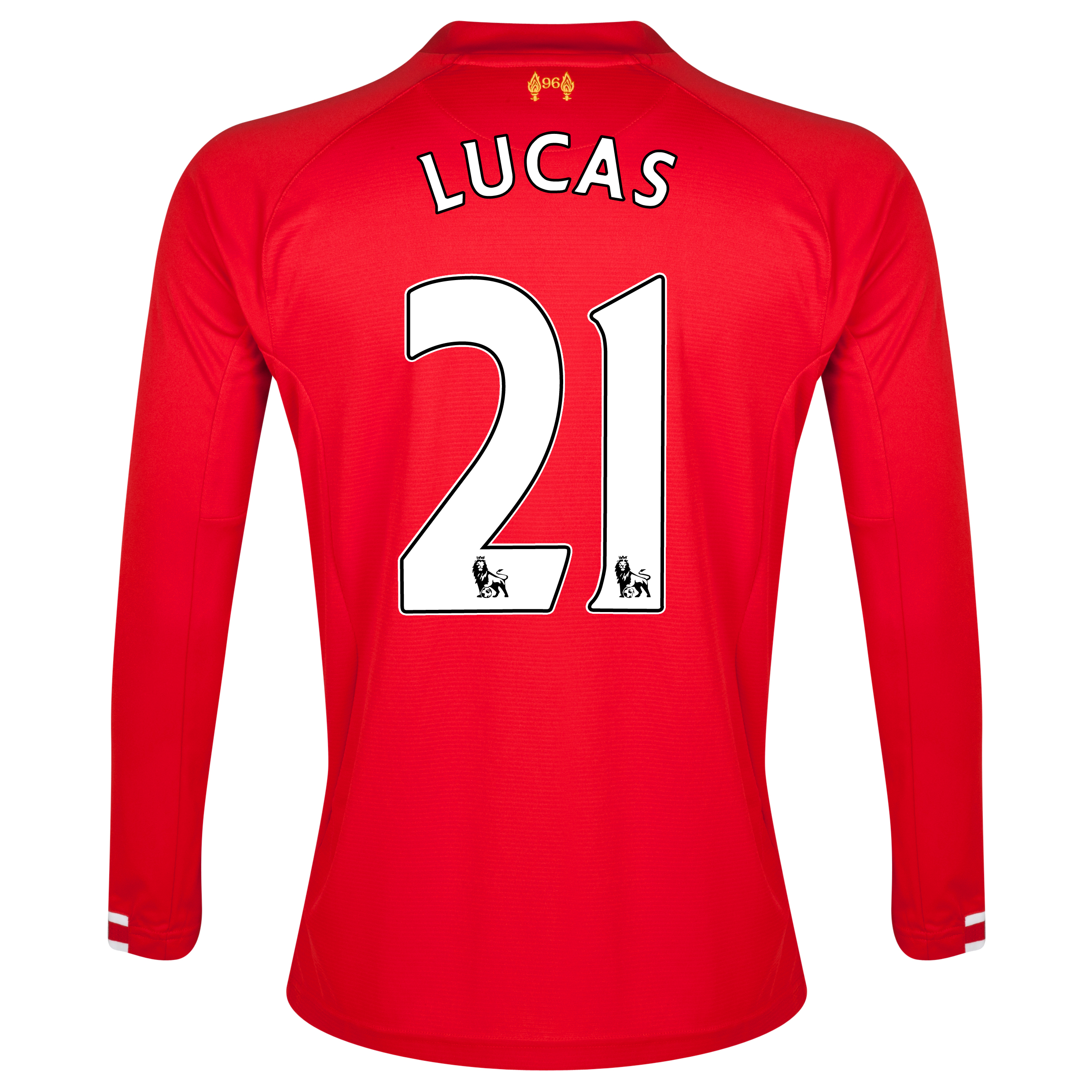 Liverpool Home Shirt 2013/14 Long sleeve with Lucas 21 printing