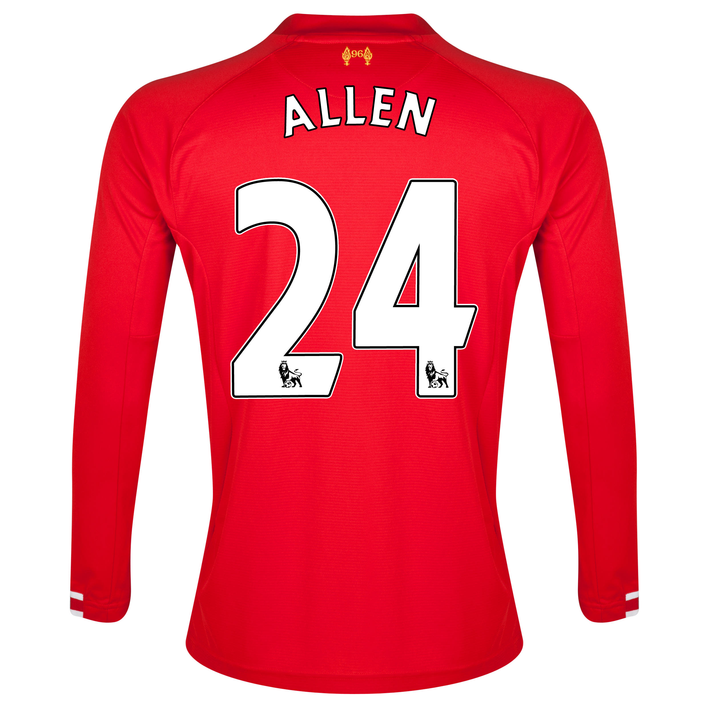 Liverpool Home Shirt 2013/14 Long sleeve with Allen 24 printing