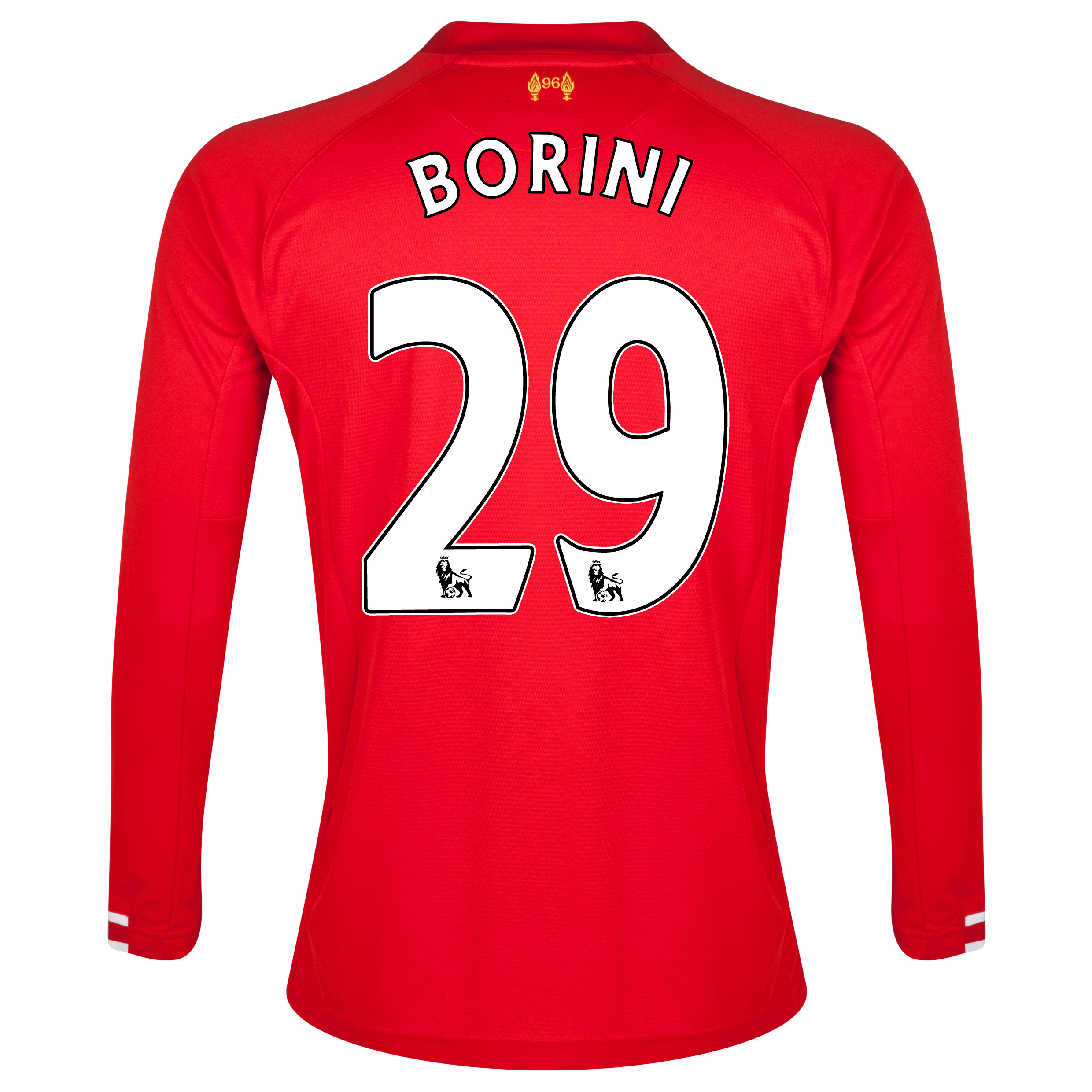 Liverpool Home Shirt 2013/14 Long sleeve with Borini 29 printing