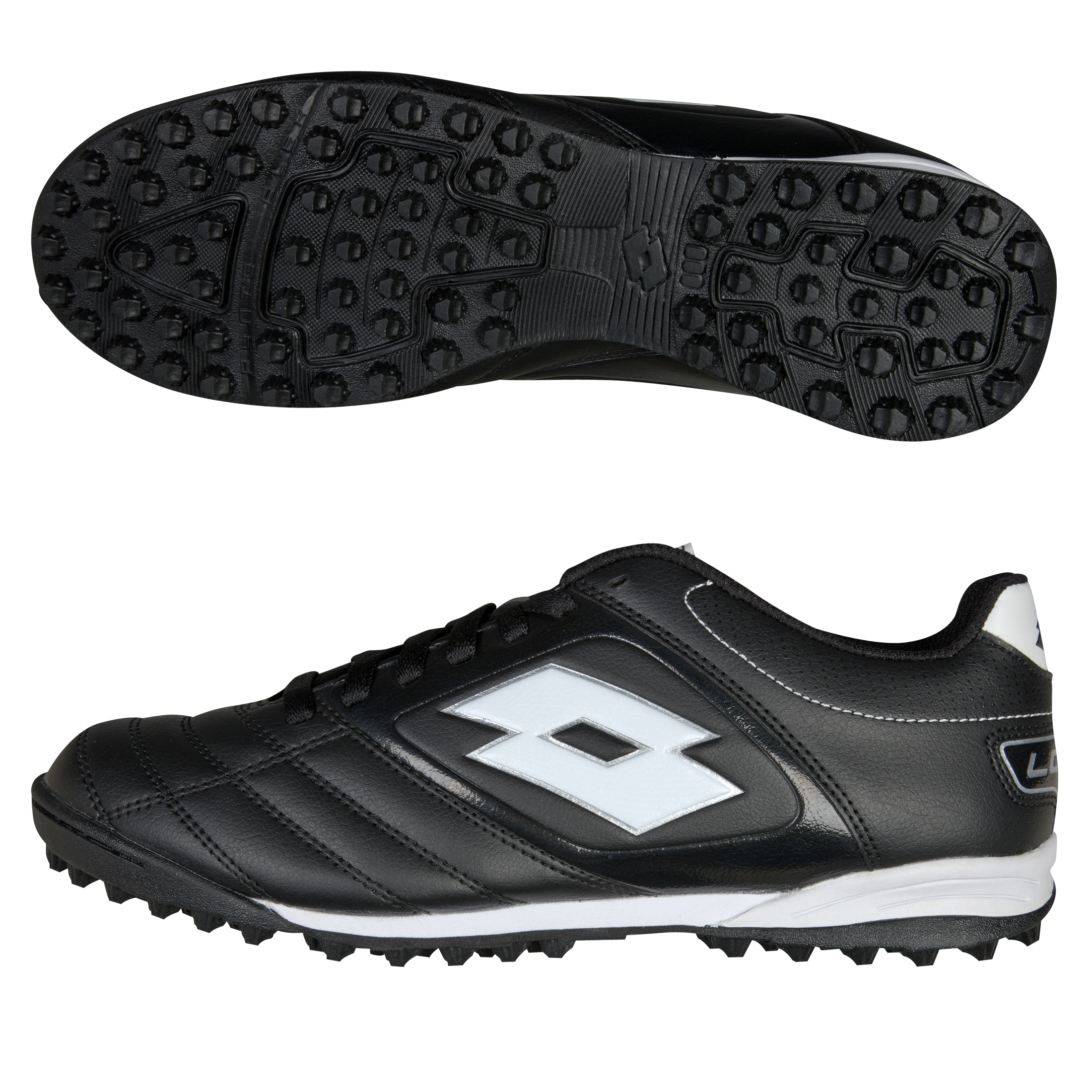Lotto Stadio Potenza 500 Astro Turf Trainers - Black/White