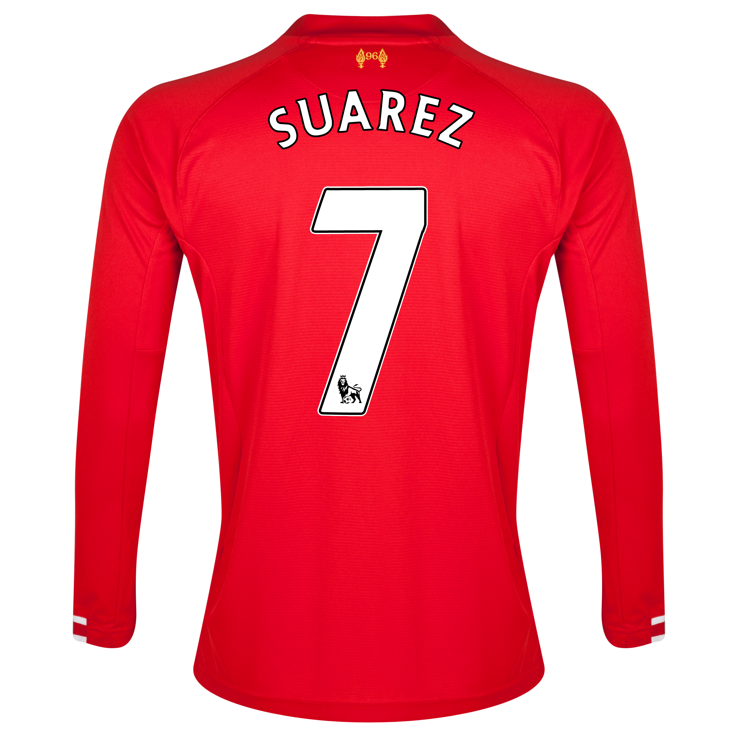 Liverpool Home Shirt 2013/14 - Long Sleeve - Kids with Suarez 7 printing
