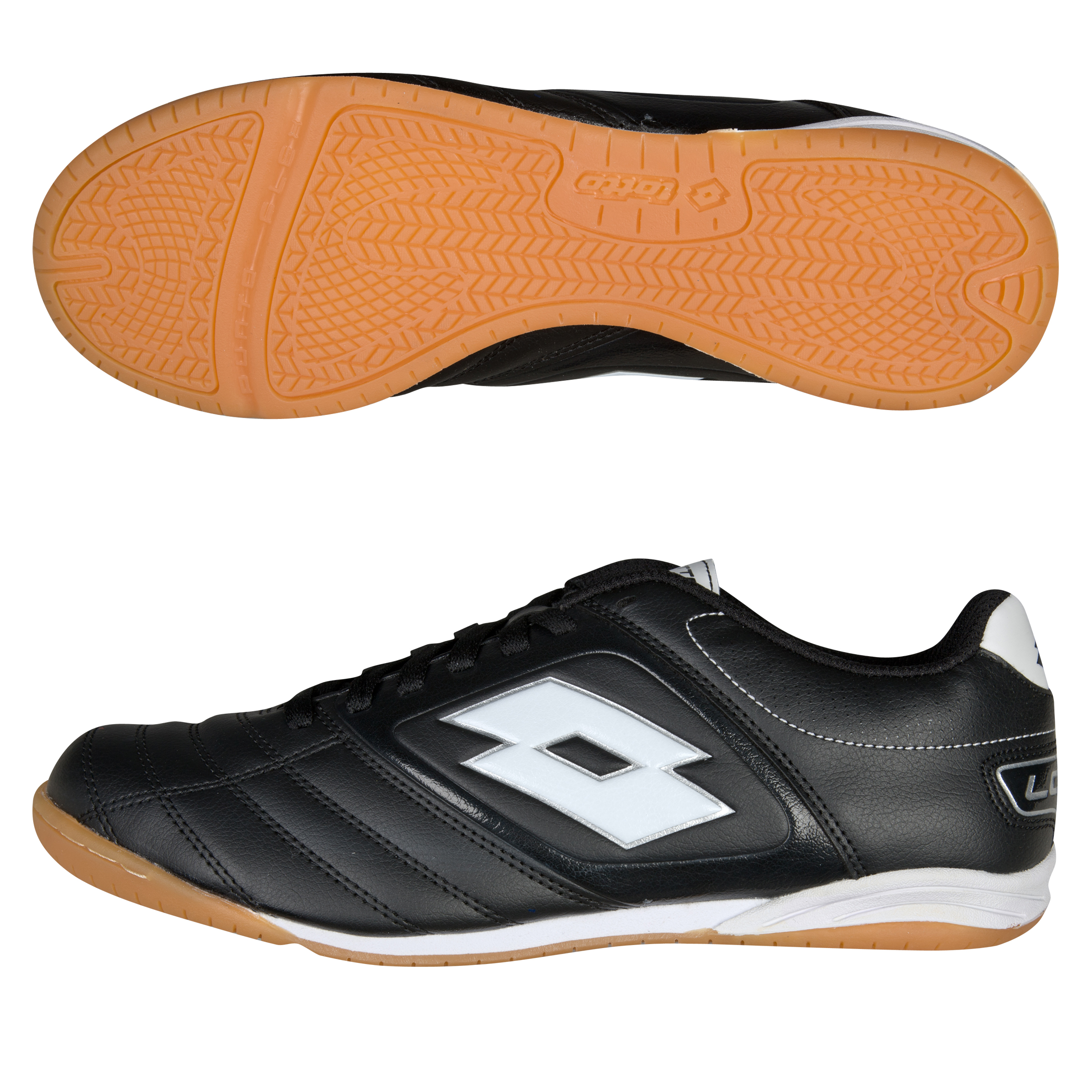 Lotto Stadio Potenza 500 Indoor Futsal Trainers - Black/White
