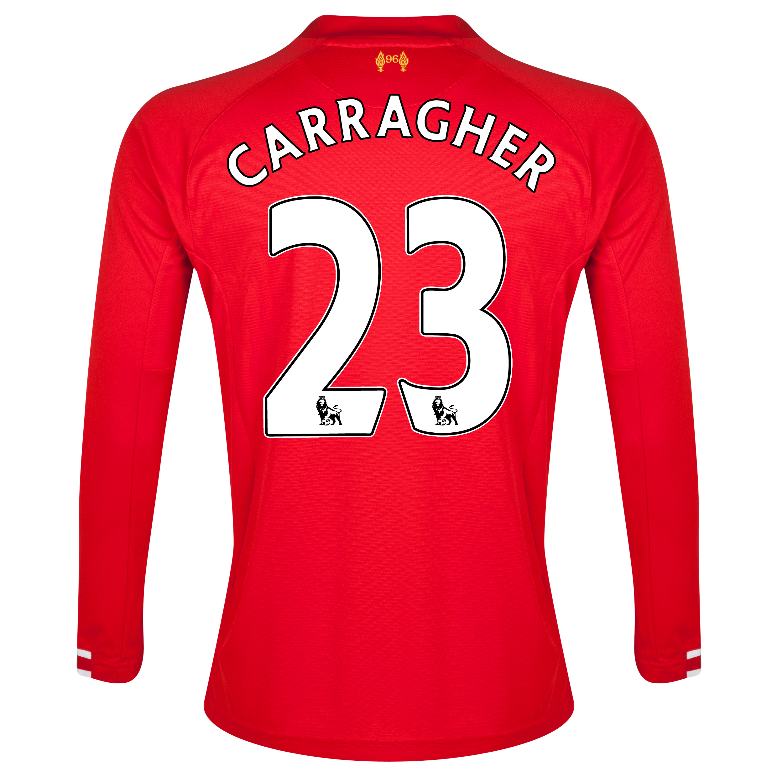 Liverpool Home Shirt 2013/14 - Long Sleeve - Kids with Carragher 23 printing