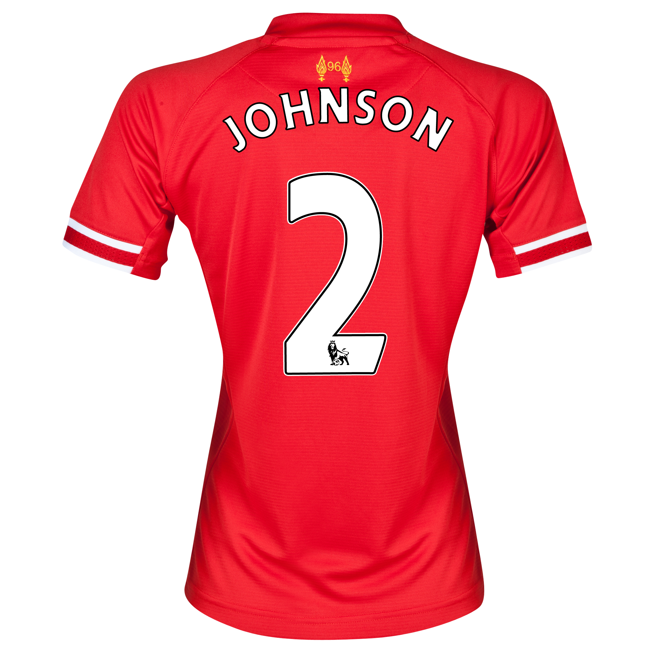 Liverpool Home Shirt 2013/14 - Womens with Johnson 2 printing