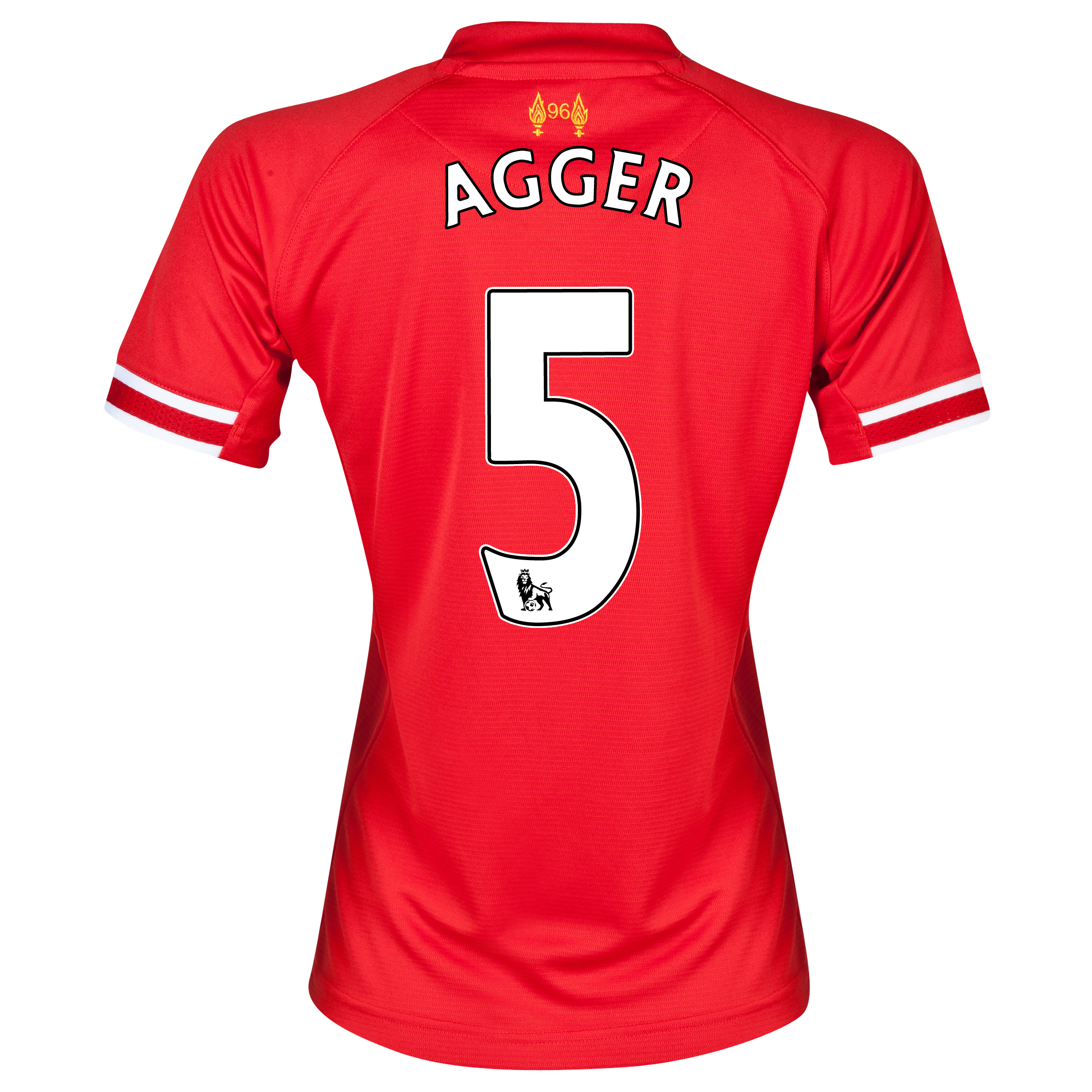 Liverpool Home Shirt 2013/14 - Womens with Agger 5 printing