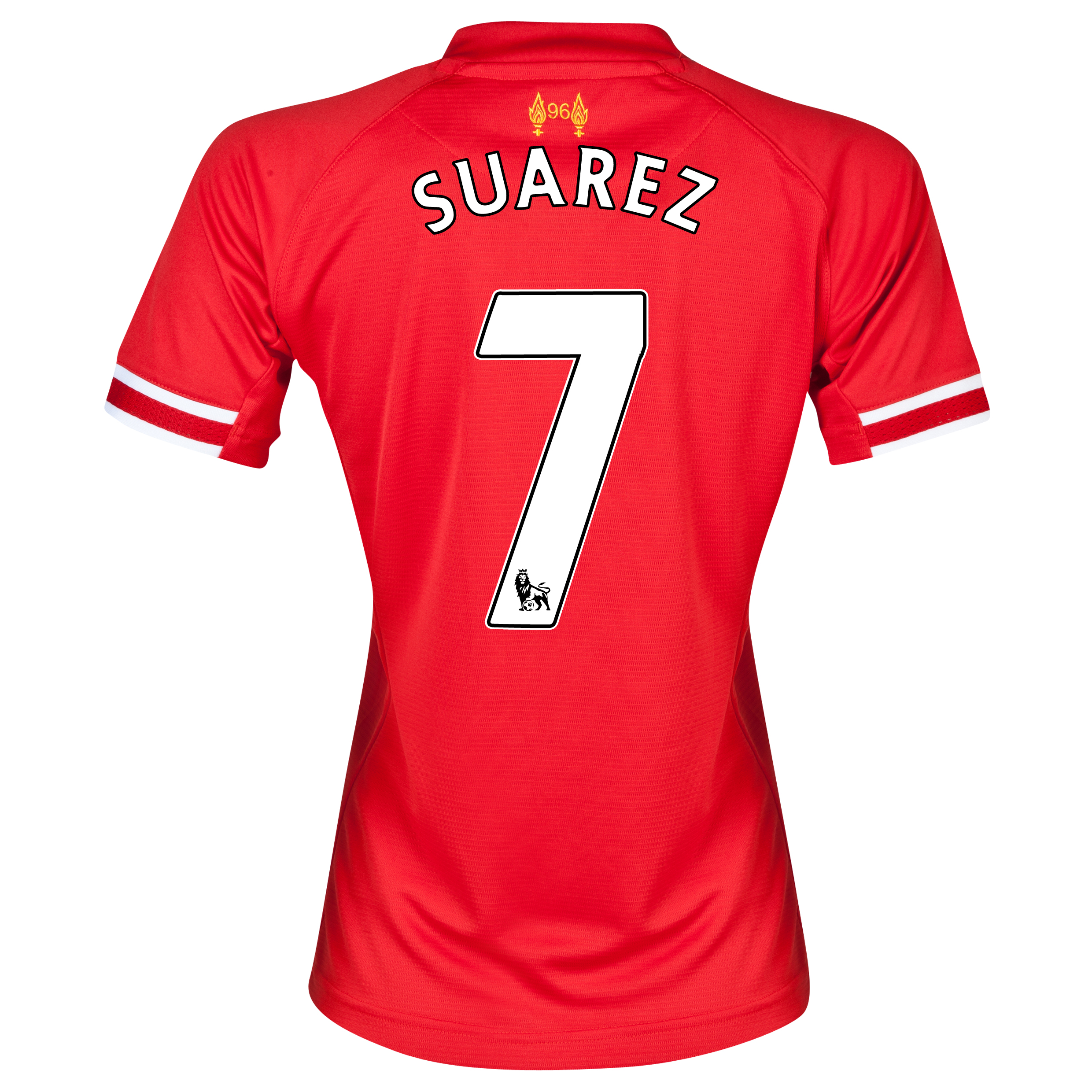 Liverpool Home Shirt 2013/14 - Womens with Suarez 7 printing
