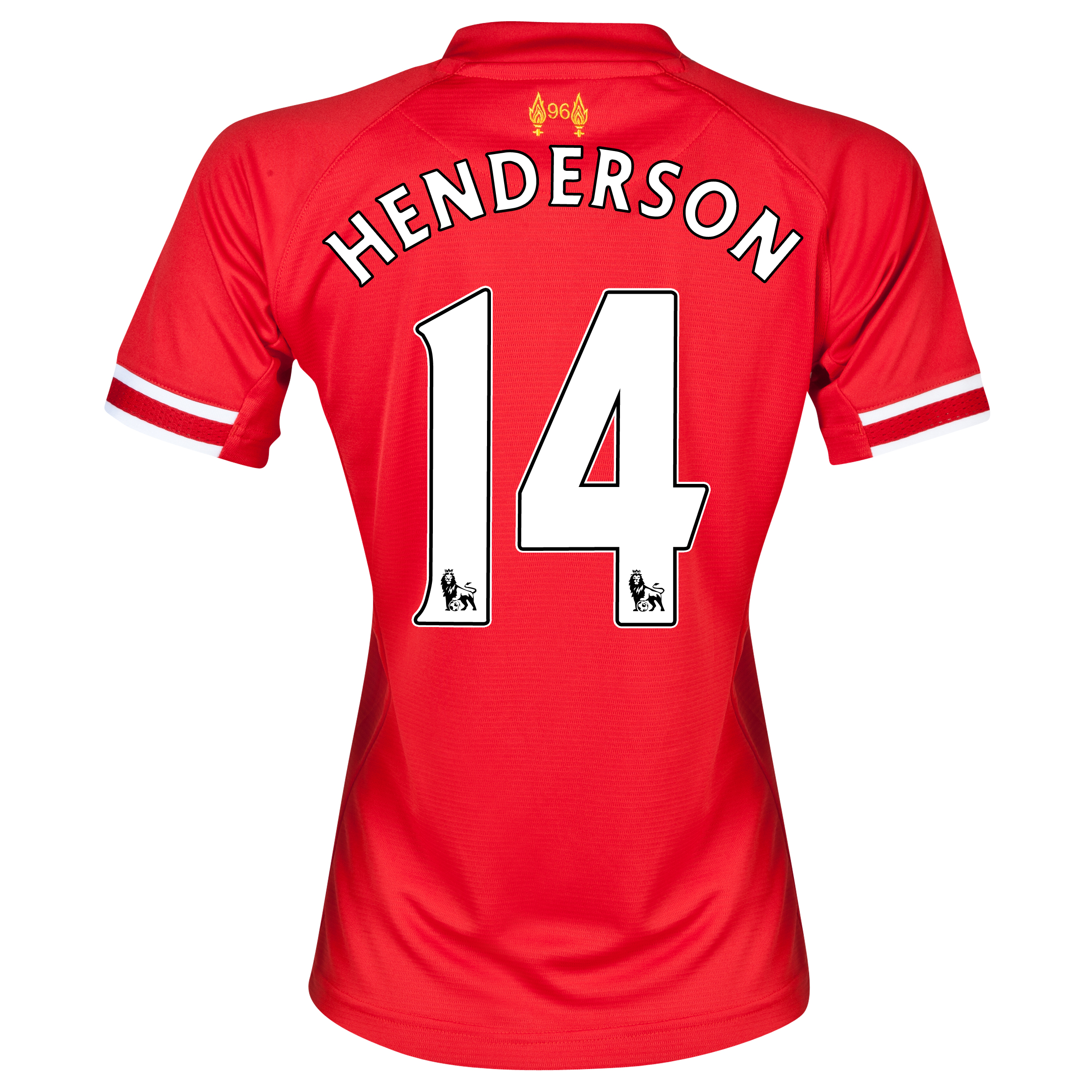 Liverpool Home Shirt 2013/14 - Womens with Henderson 14 printing