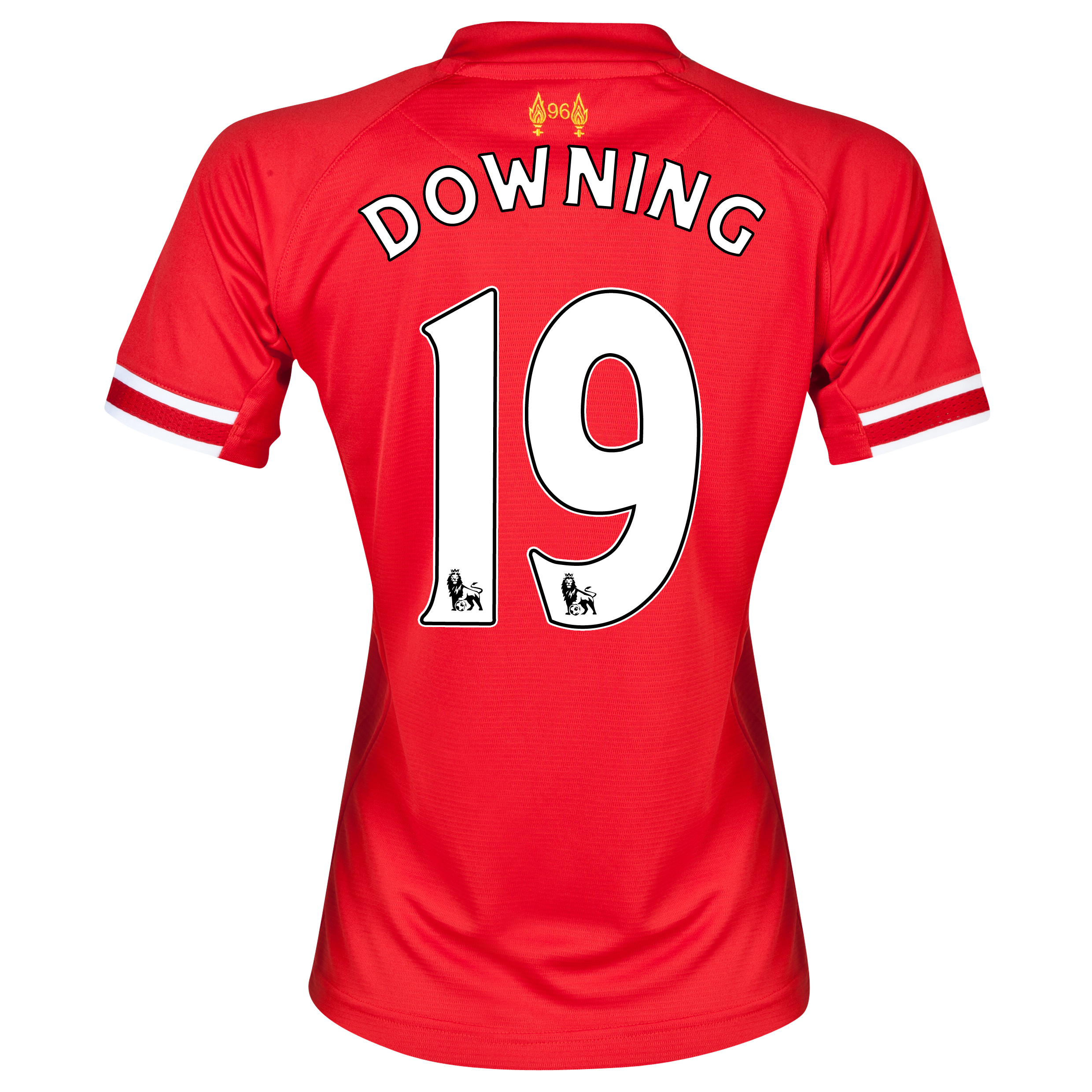 Liverpool Home Shirt 2013/14 - Womens with Downing 19 printing