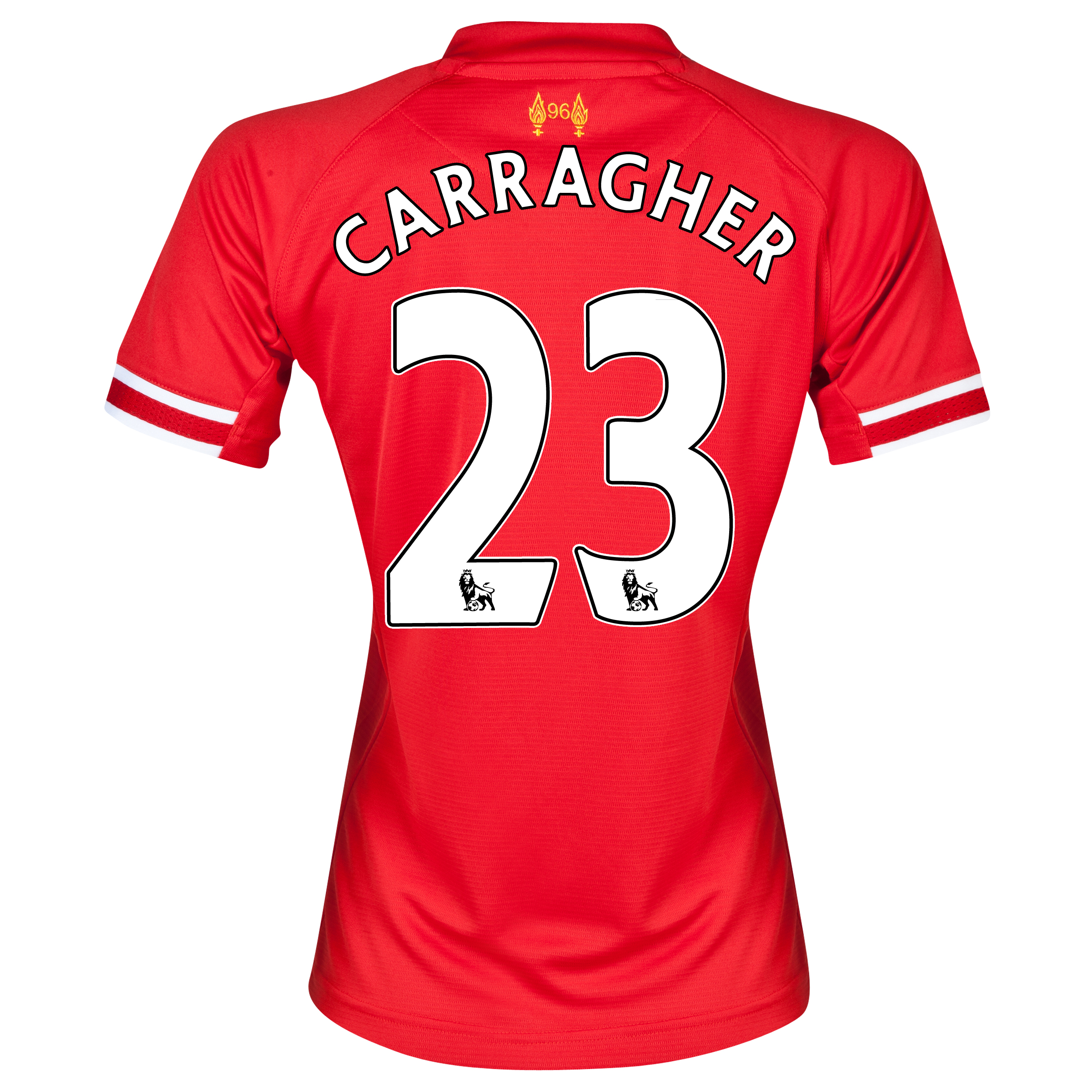 Liverpool Home Shirt 2013/14 - Womens with Carragher 23 printing