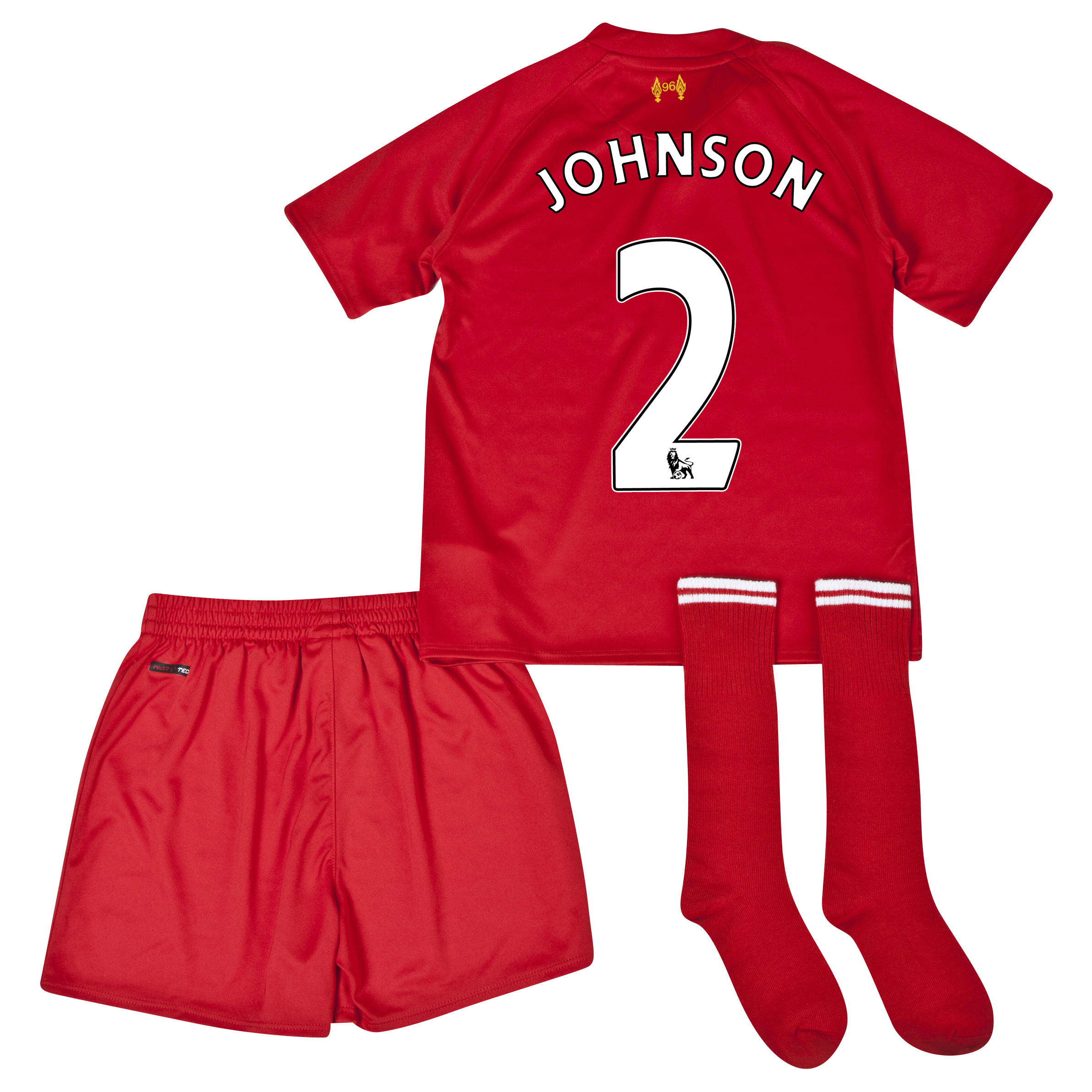 Liverpool Home Infant Kit 2013/14 with Johnson 2 printing