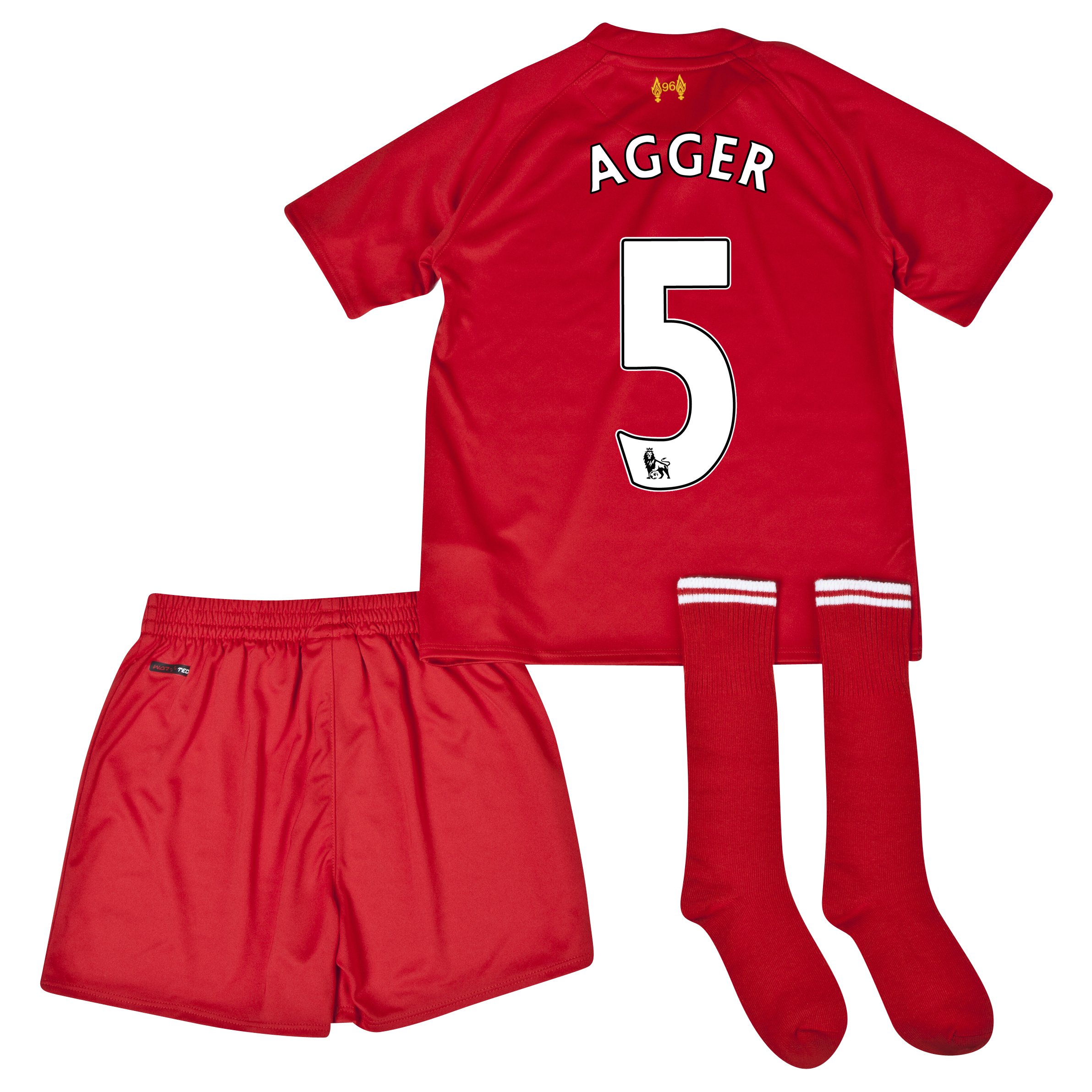 Liverpool Home Infant Kit 2013/14 with Agger 5 printing