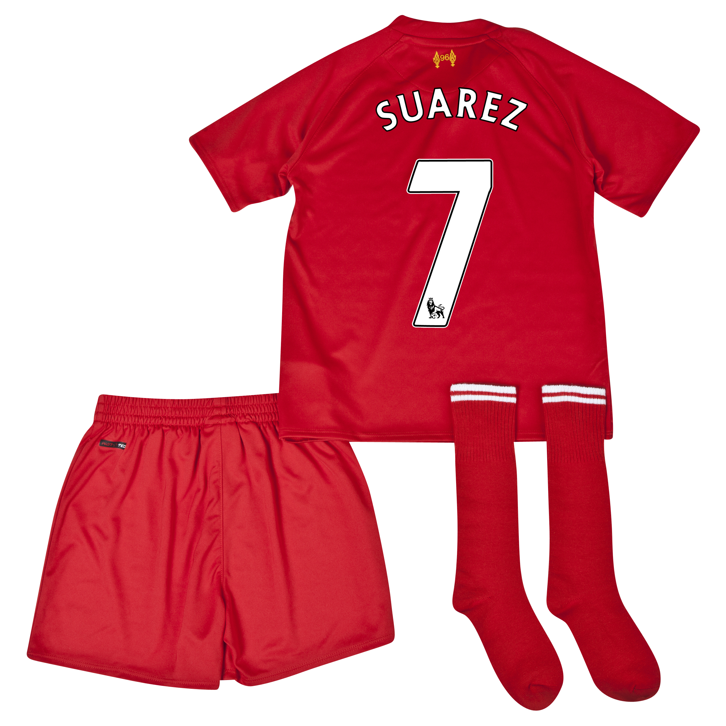 Liverpool Home Infant Kit 2013/14 with Suarez 7 printing