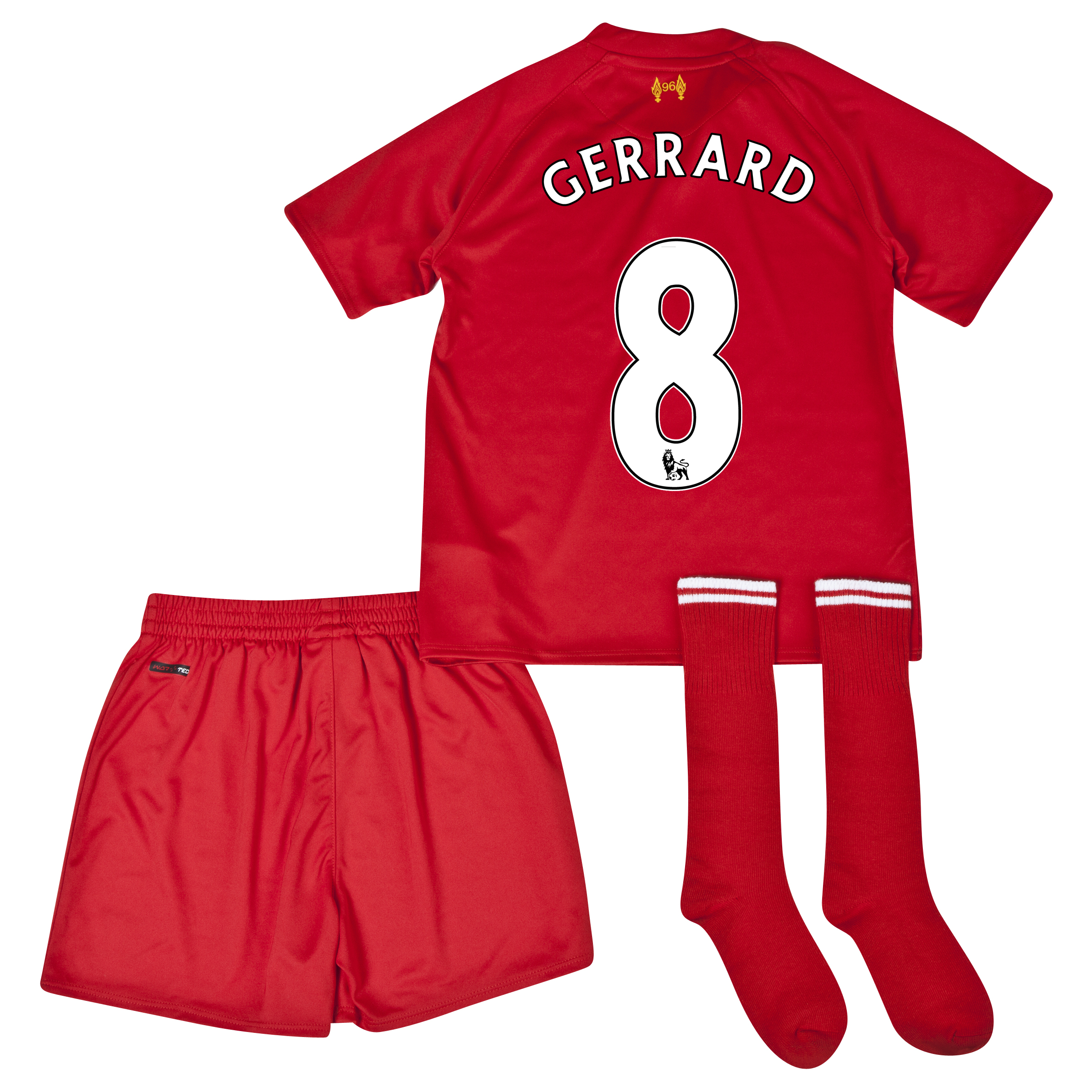 Liverpool Home Infant Kit 2013/14 with Gerrard 8 printing