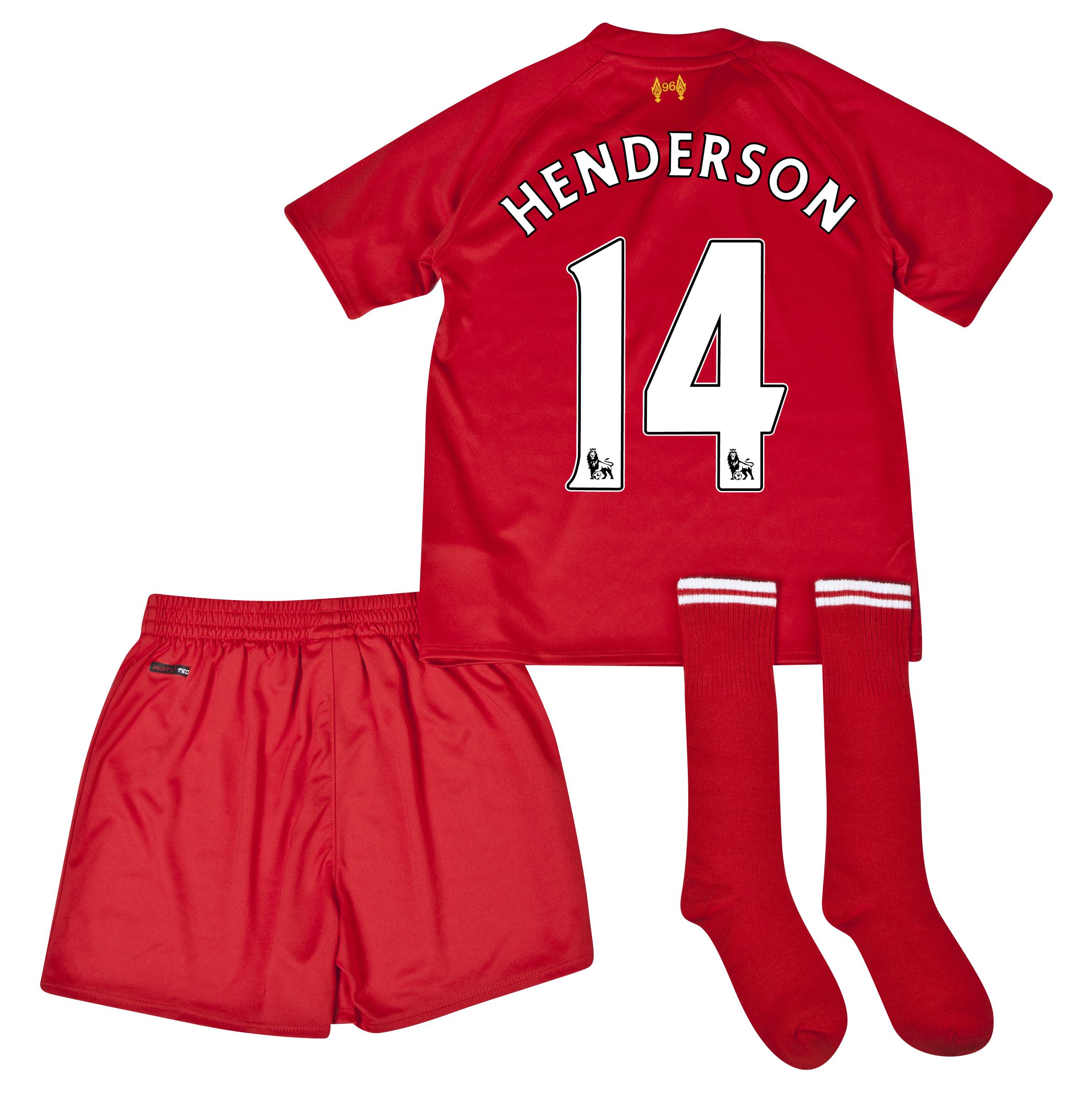 Liverpool Home Infant Kit 2013/14 with Henderson 14 printing