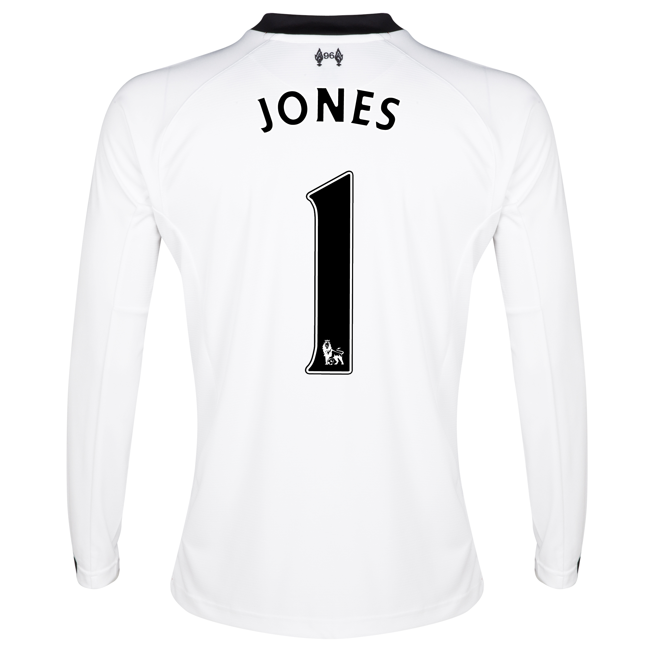 Liverpool Home Goalkeeper Shirt 2013/14 -Long Sleeve Kids with Jones 1 printing