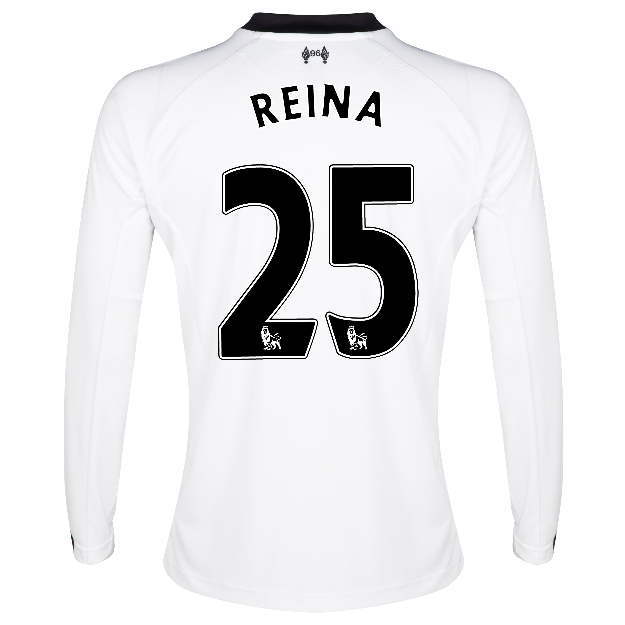 Liverpool Home Goalkeeper Shirt 2013/14 -Long Sleeve Kids with Reina 25 printing