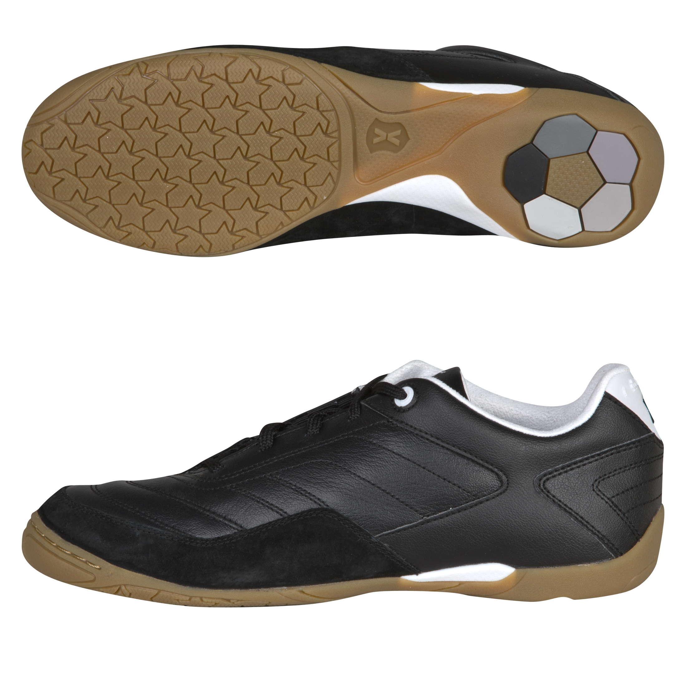 Pele Sports Radium Futsal Trainers - Black/Running White