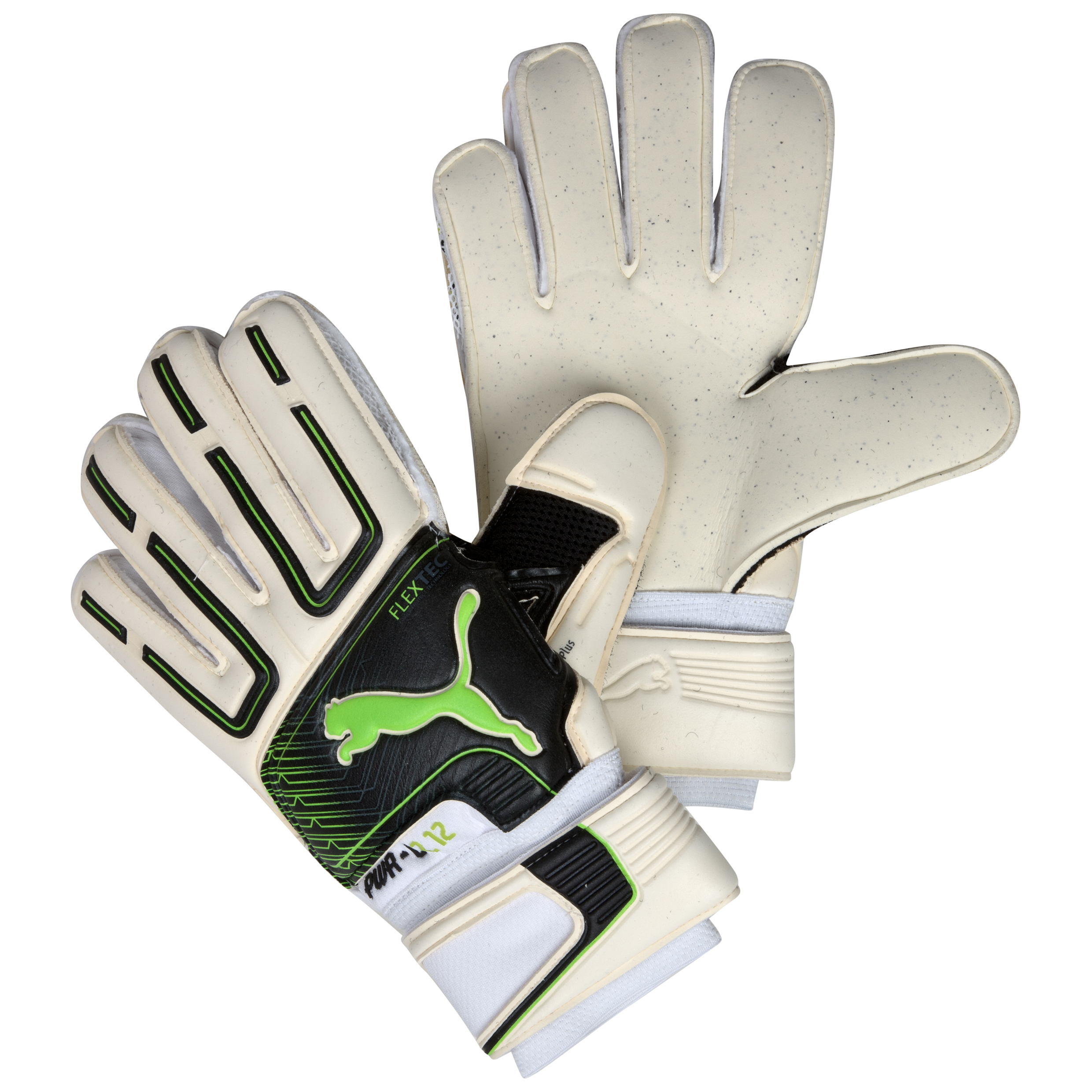 Puma PowerCat 2.12 Protect RC Goalkeeper Gloves - White/Black/Lime Punch/Dark Shadow