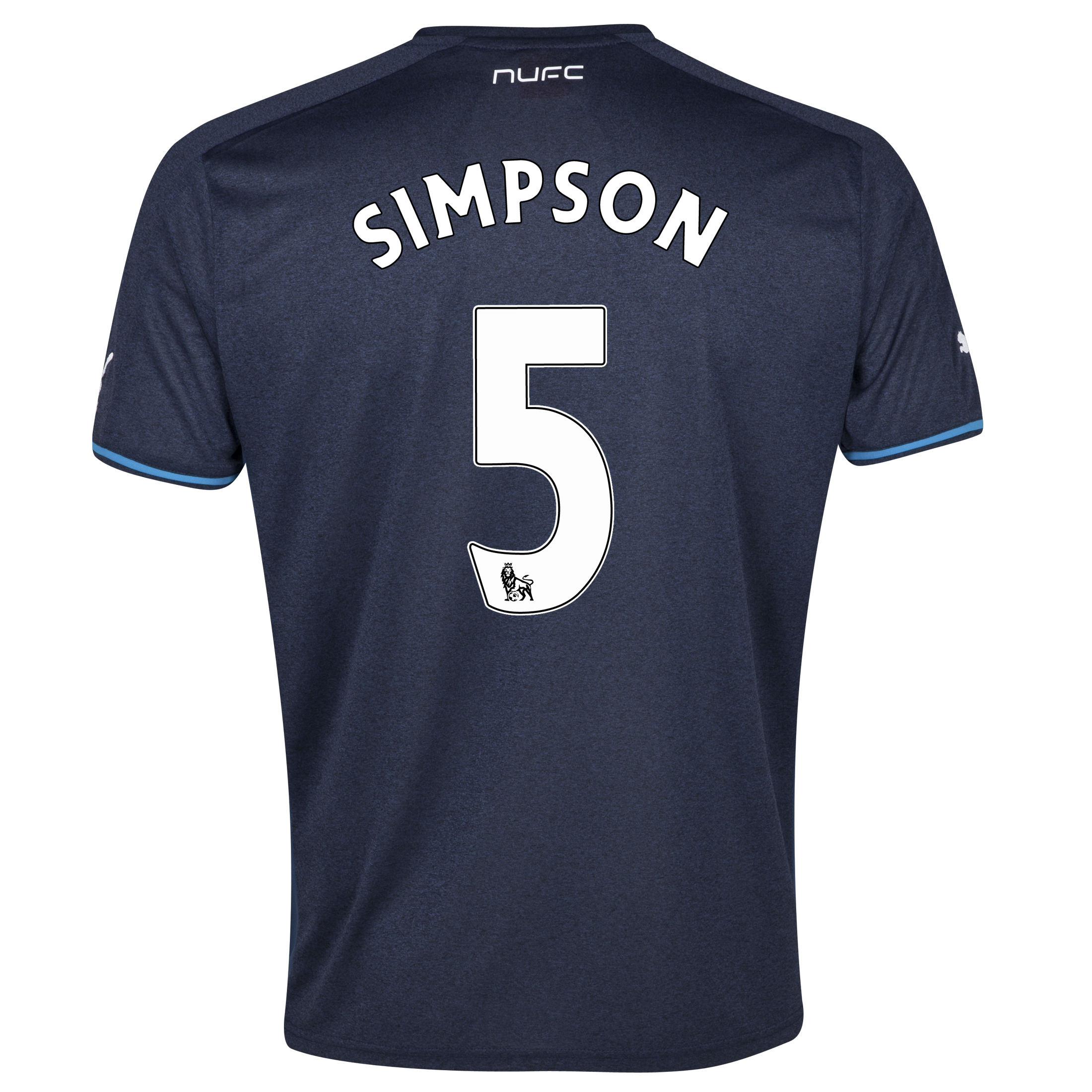 Newcastle United Away Shirt 2013/14 - kids with Simpson 5 printing