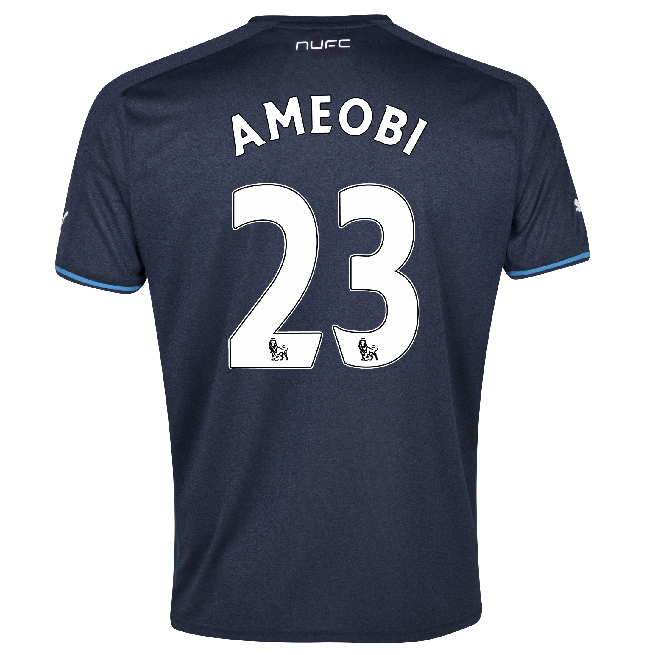 Newcastle United Away Shirt 2013/14 - kids with Ameobi 23 printing