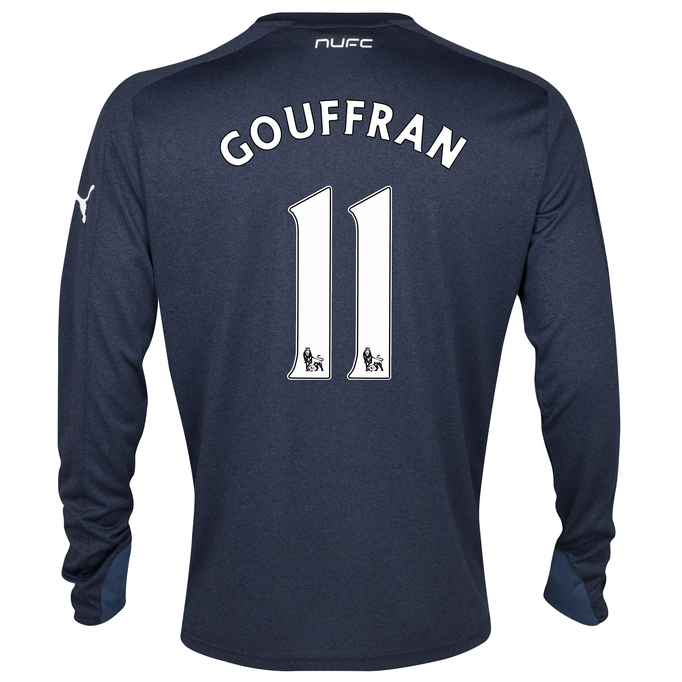 Newcastle United Away Shirt 2013/14- Long Sleeve with Gouffran 11 printing