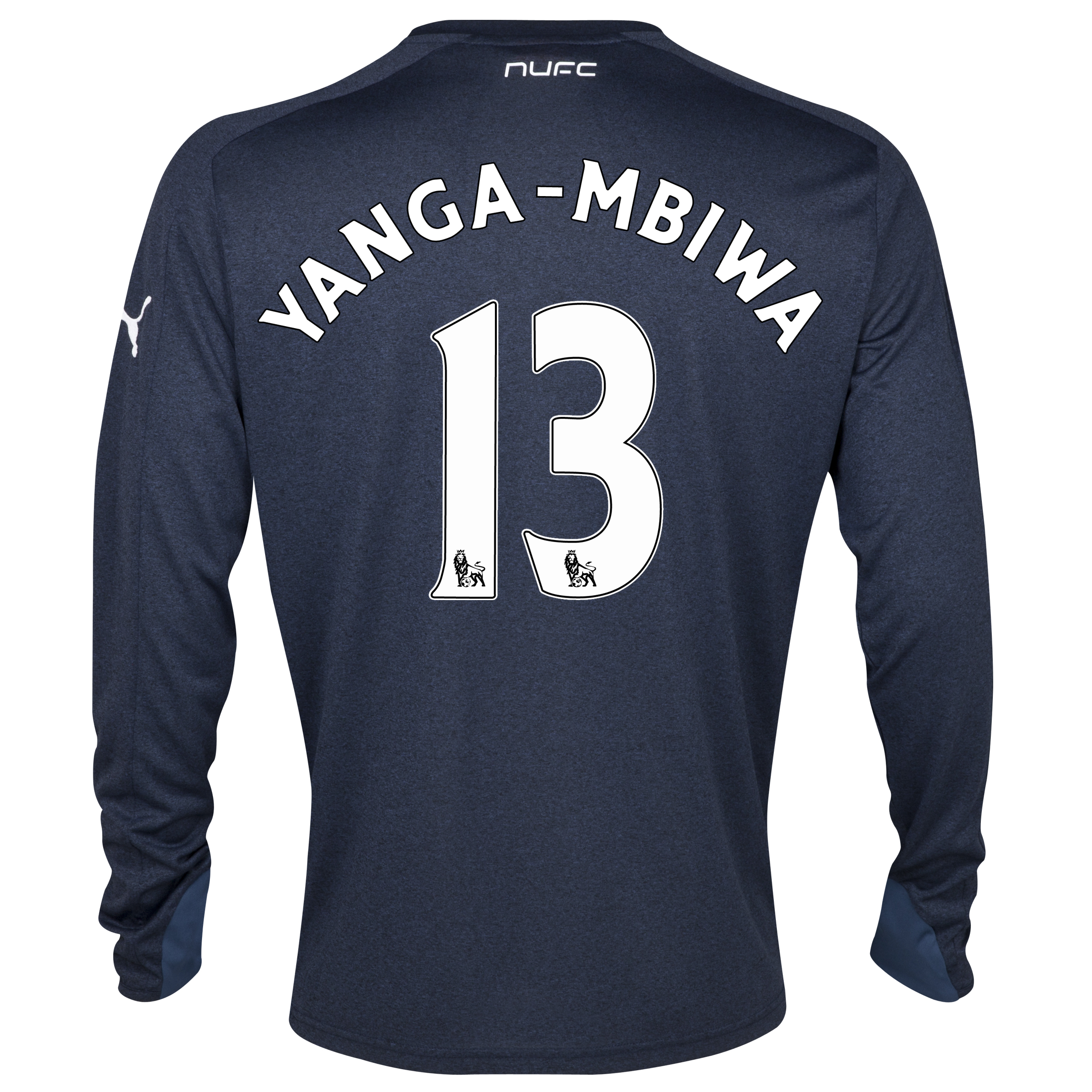 Newcastle United Away Shirt 2013/14- Long Sleeve with Yanga-Mbiwa 13 printing