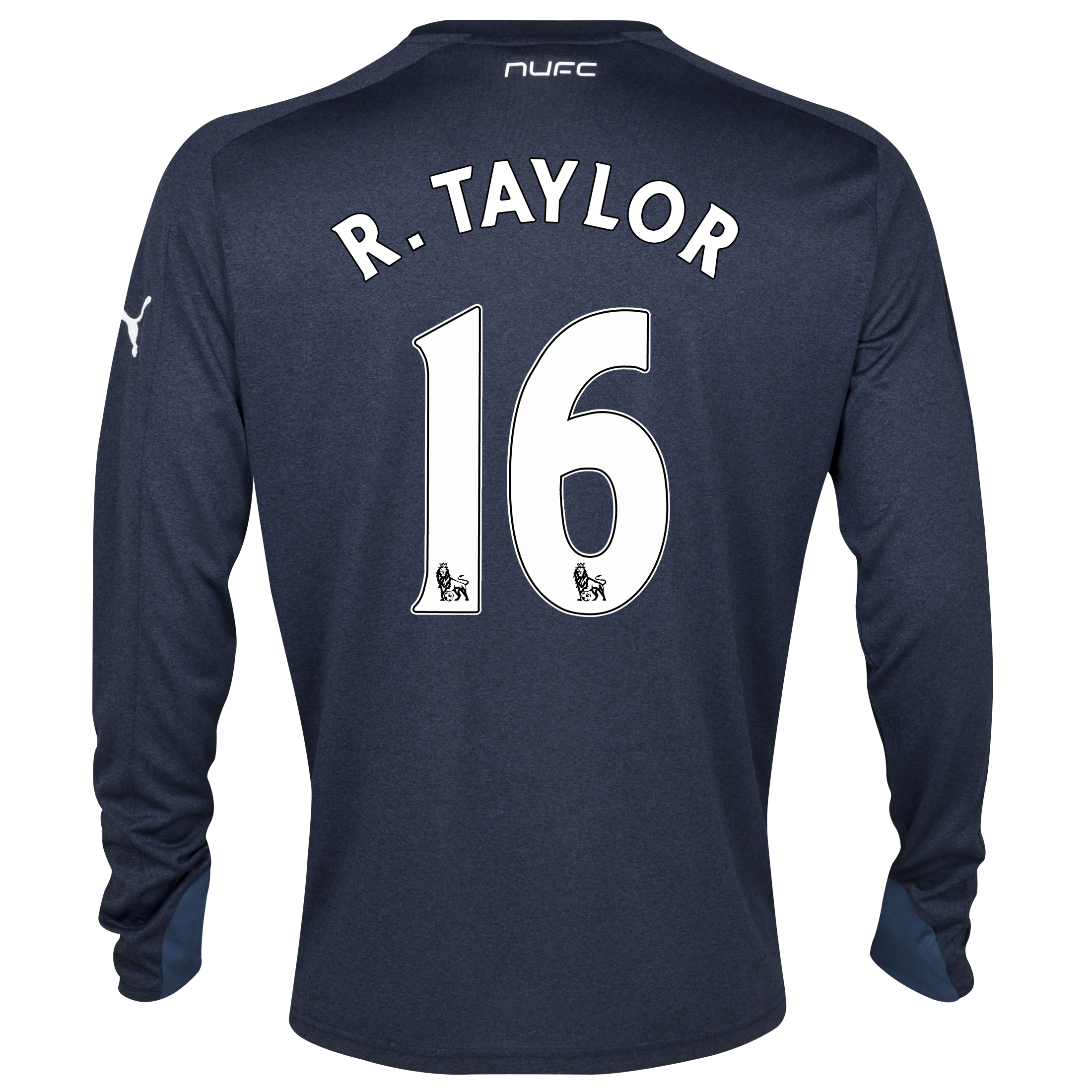 Newcastle United Away Shirt 2013/14- Long Sleeve with R. Taylor 16 printing