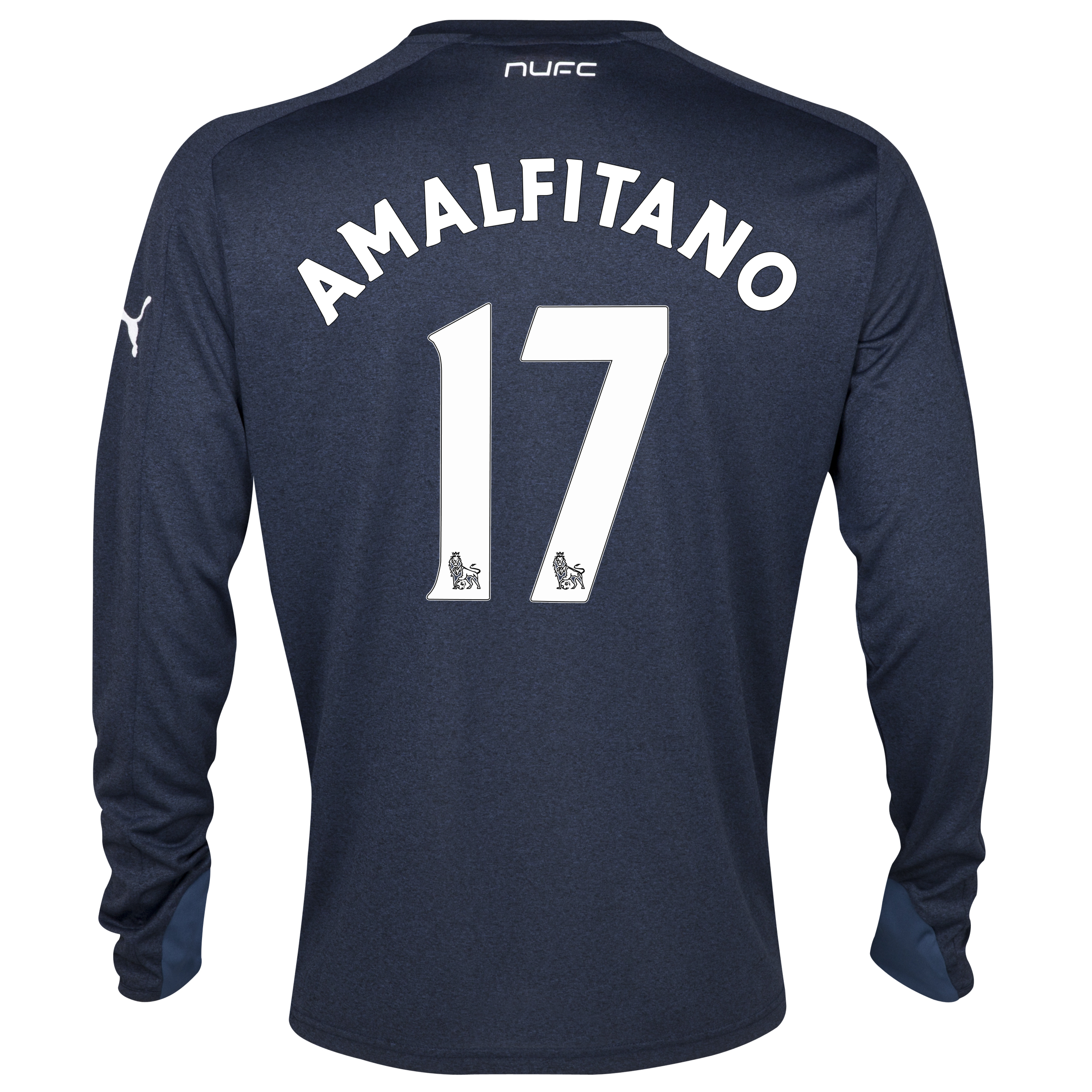 Newcastle United Away Shirt 2013/14- Long Sleeve with Amalfitano 17 printing