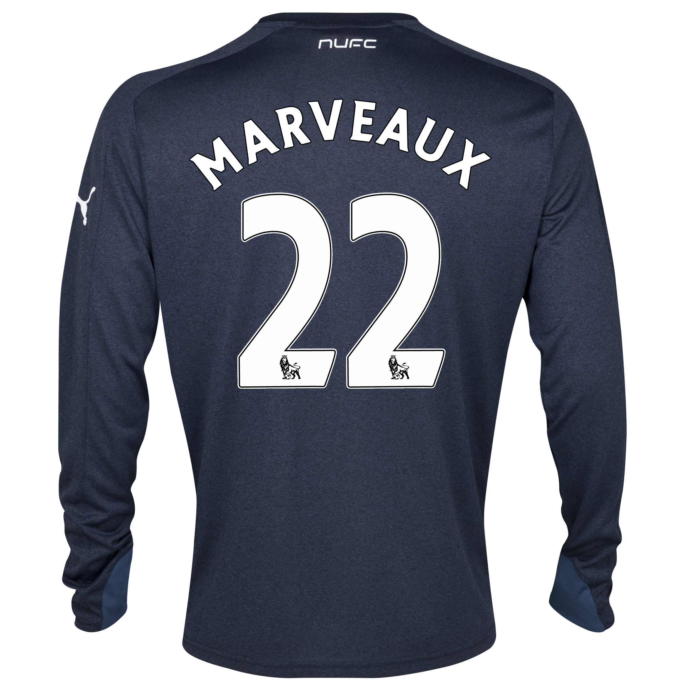 Newcastle United Away Shirt 2013/14- Long Sleeve with Marveaux 22 printing