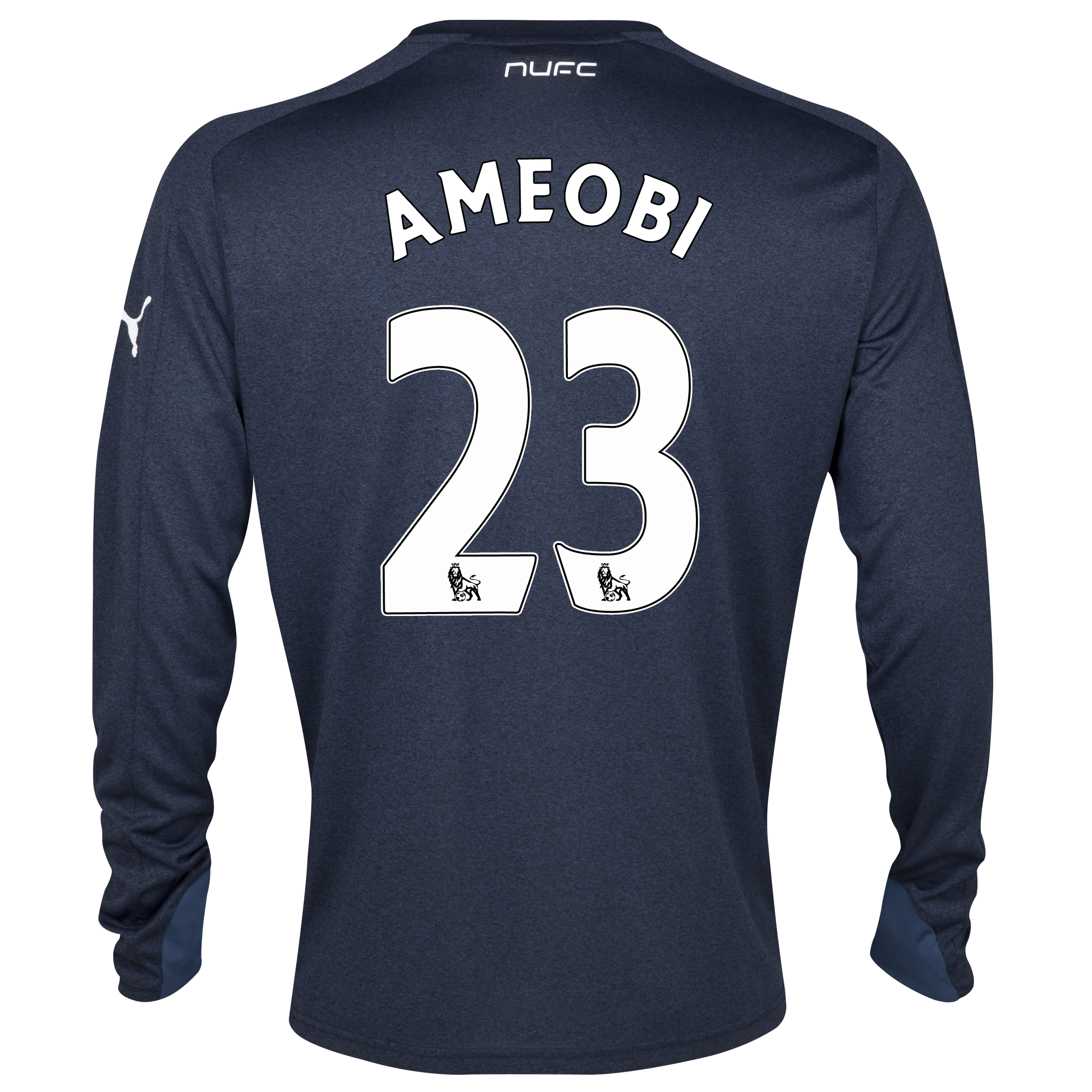 Newcastle United Away Shirt 2013/14- Long Sleeve with Ameobi 23 printing