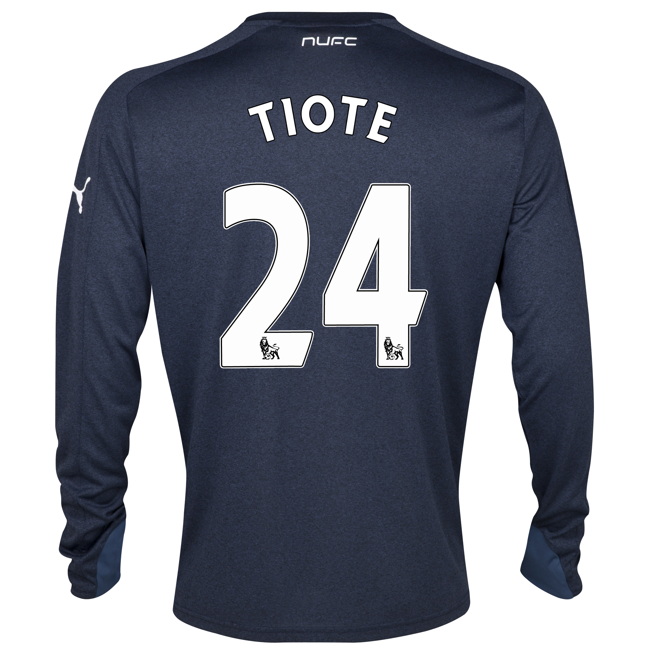 Newcastle United Away Shirt 2013/14- Long Sleeve with Tiote 24 printing