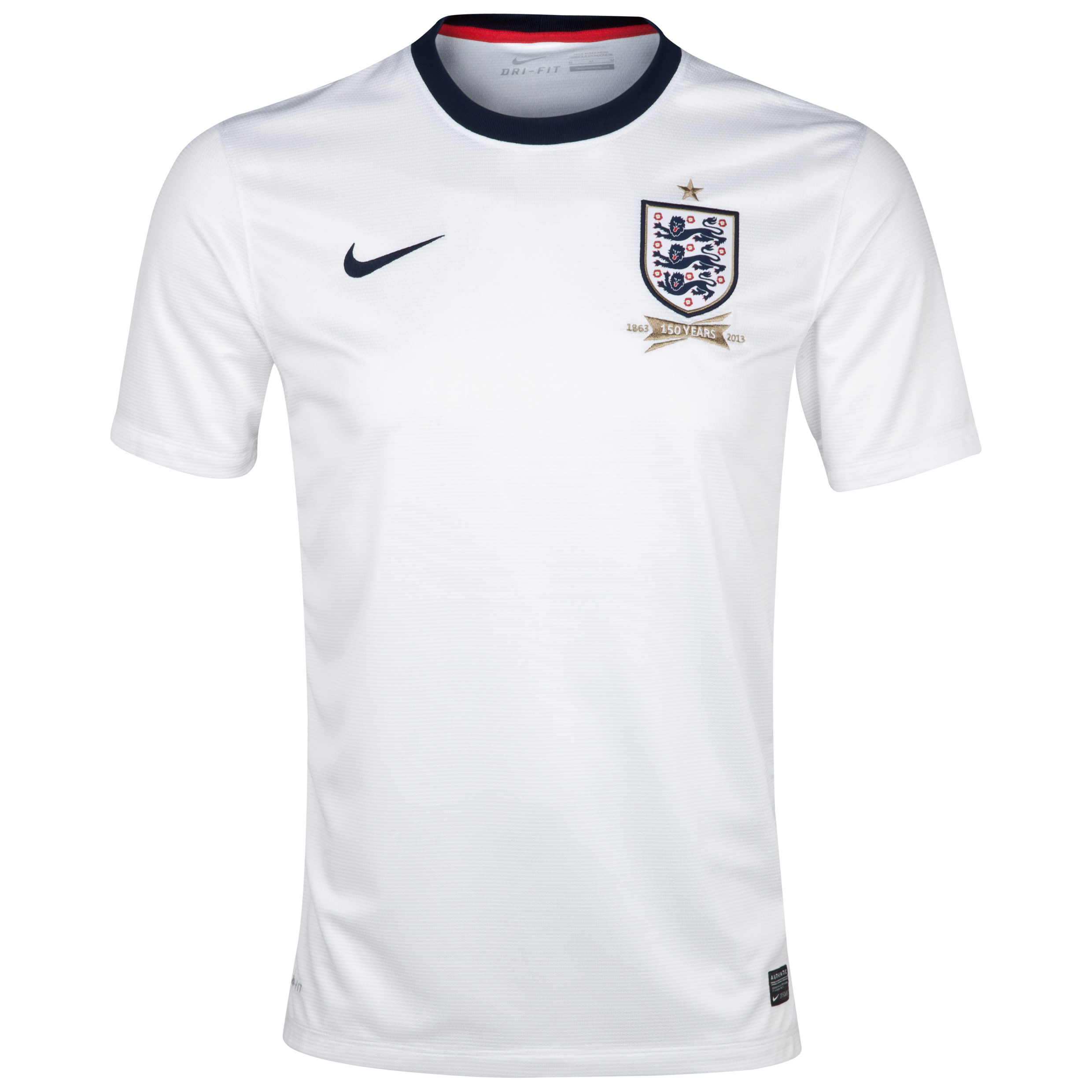 England Home Shirt 2013/14 - Mens White with Wilshere 8 printing