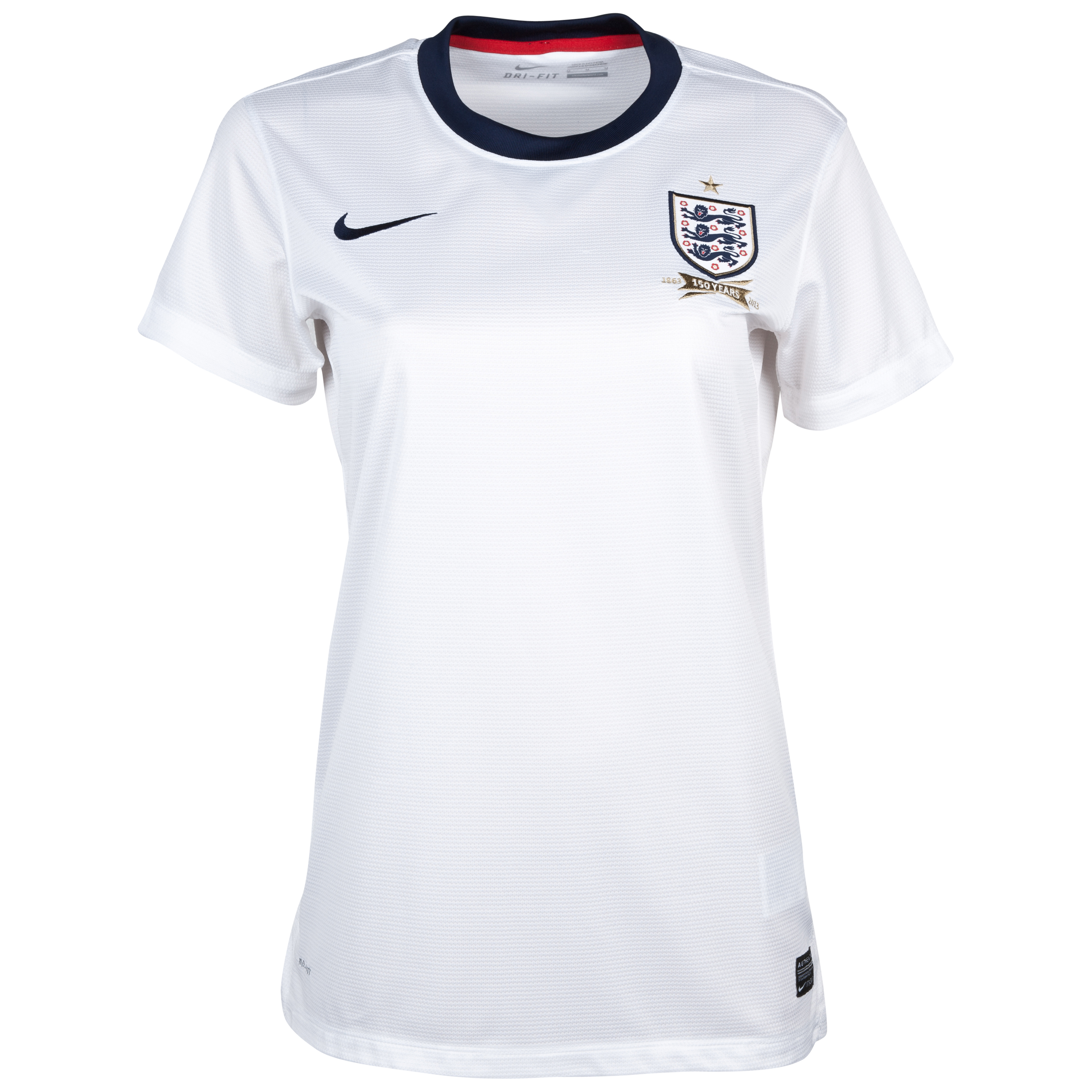 England Home Shirt 2013/14 - Womens White with Rooney 10 printing