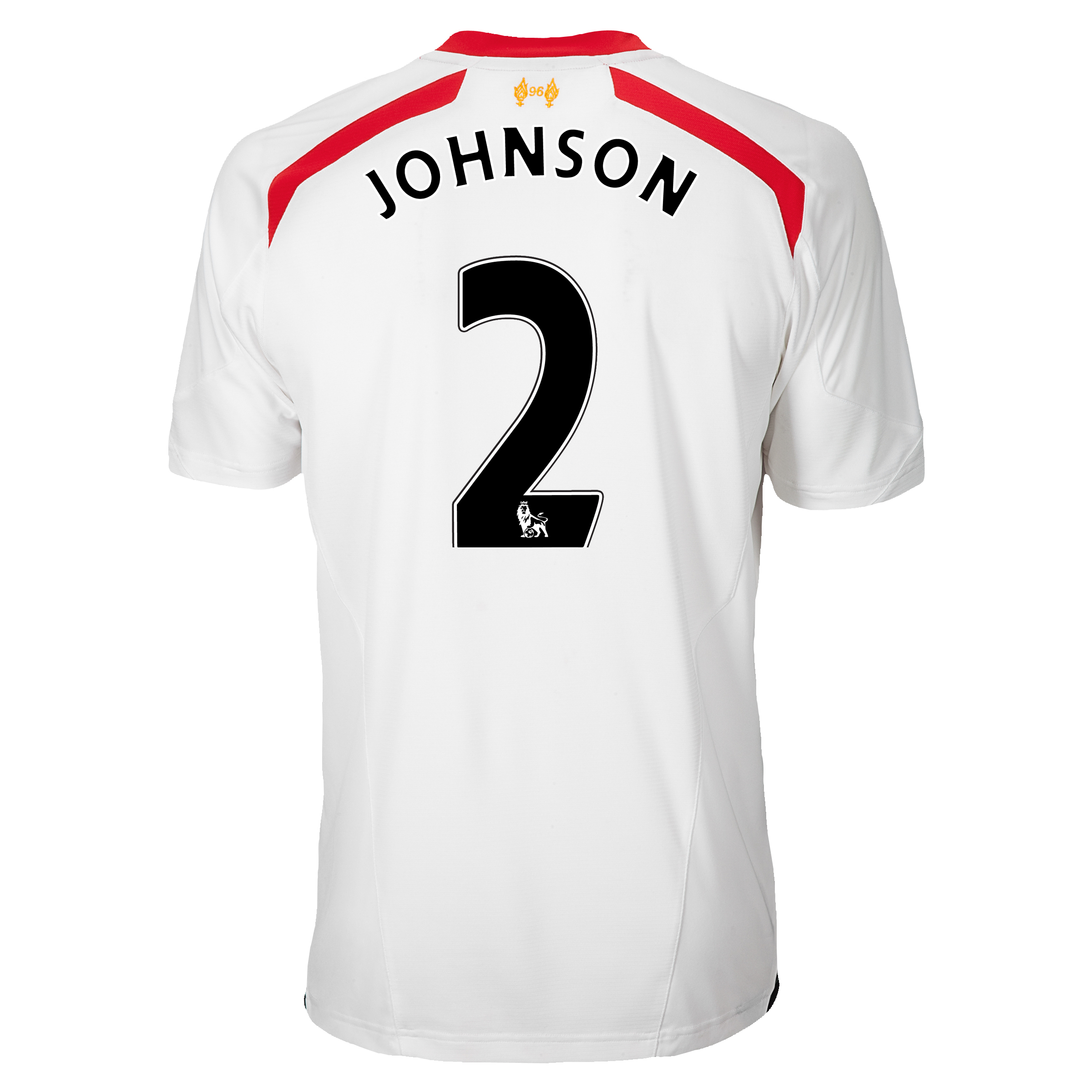 Liverpool Away Shirt 2013/14 with Johnson 2 printing