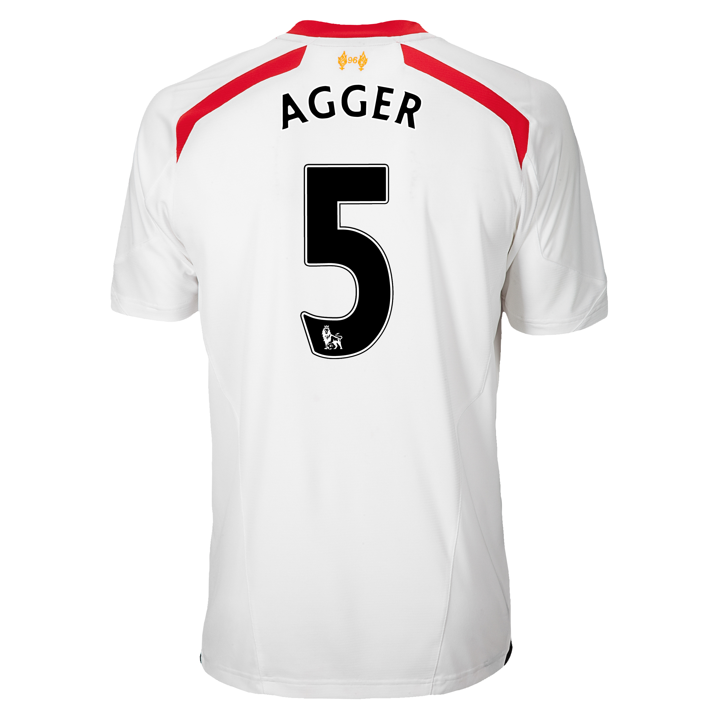 Liverpool Away Shirt 2013/14 with Agger 5 printing