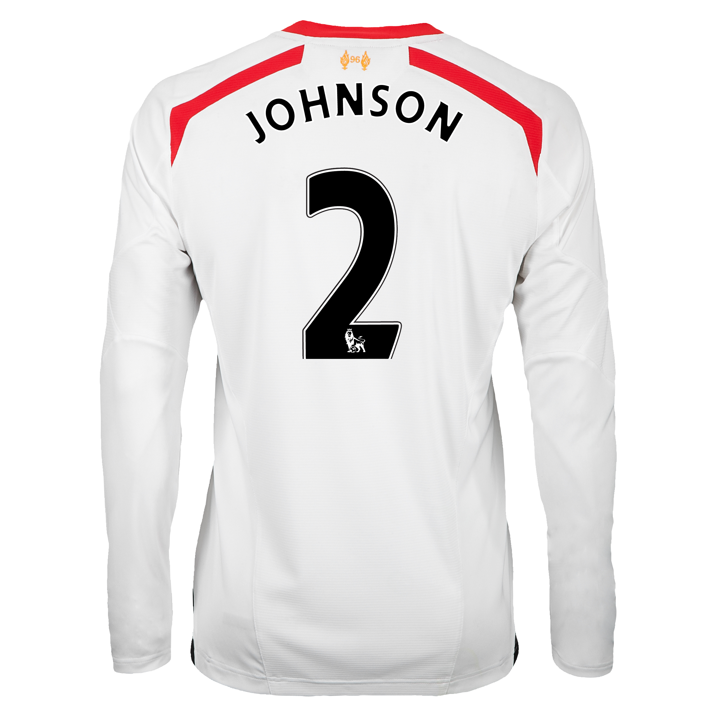 Liverpool Away Shirt 2013/14 - Long Sleeve with Johnson 2 printing