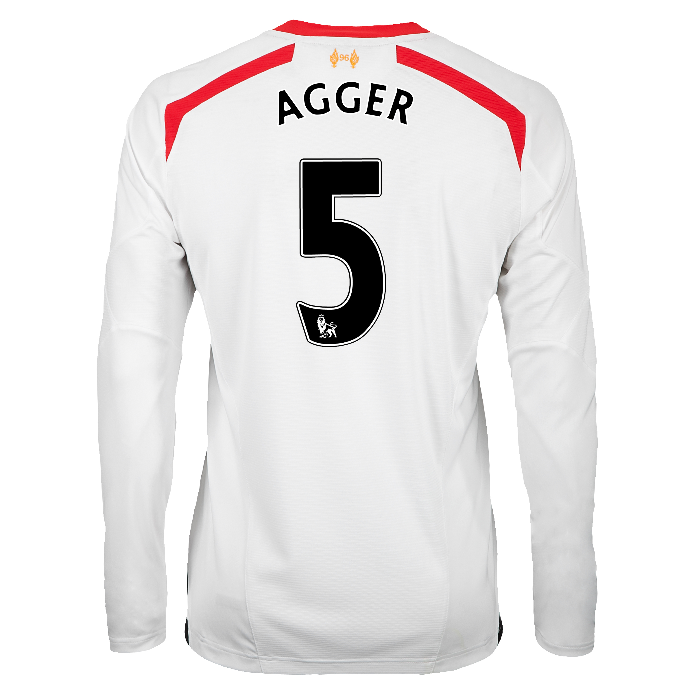 Liverpool Away Shirt 2013/14 - Long Sleeve with Agger 5 printing