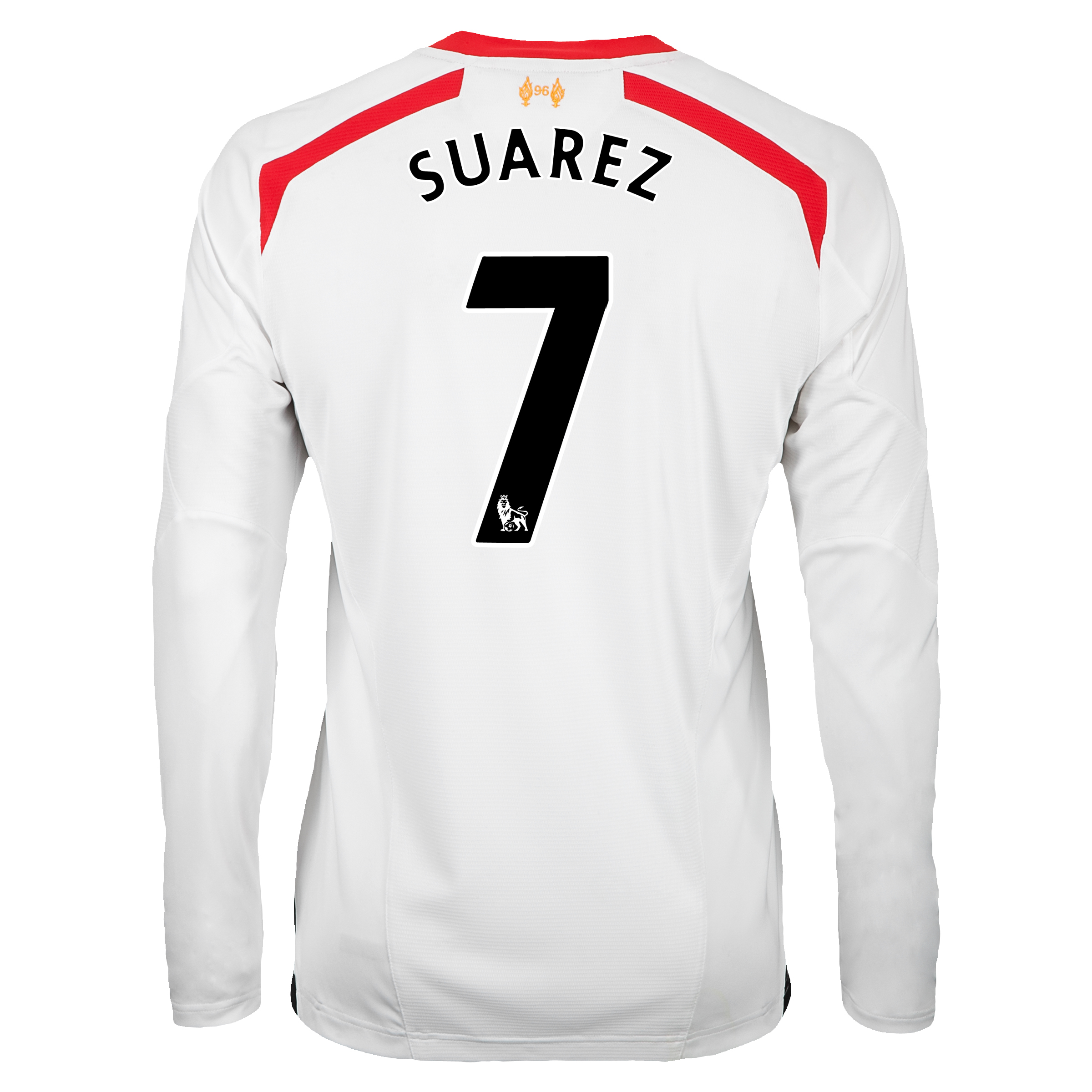 Liverpool Away Shirt 2013/14 - Long Sleeve with Suarez 7 printing