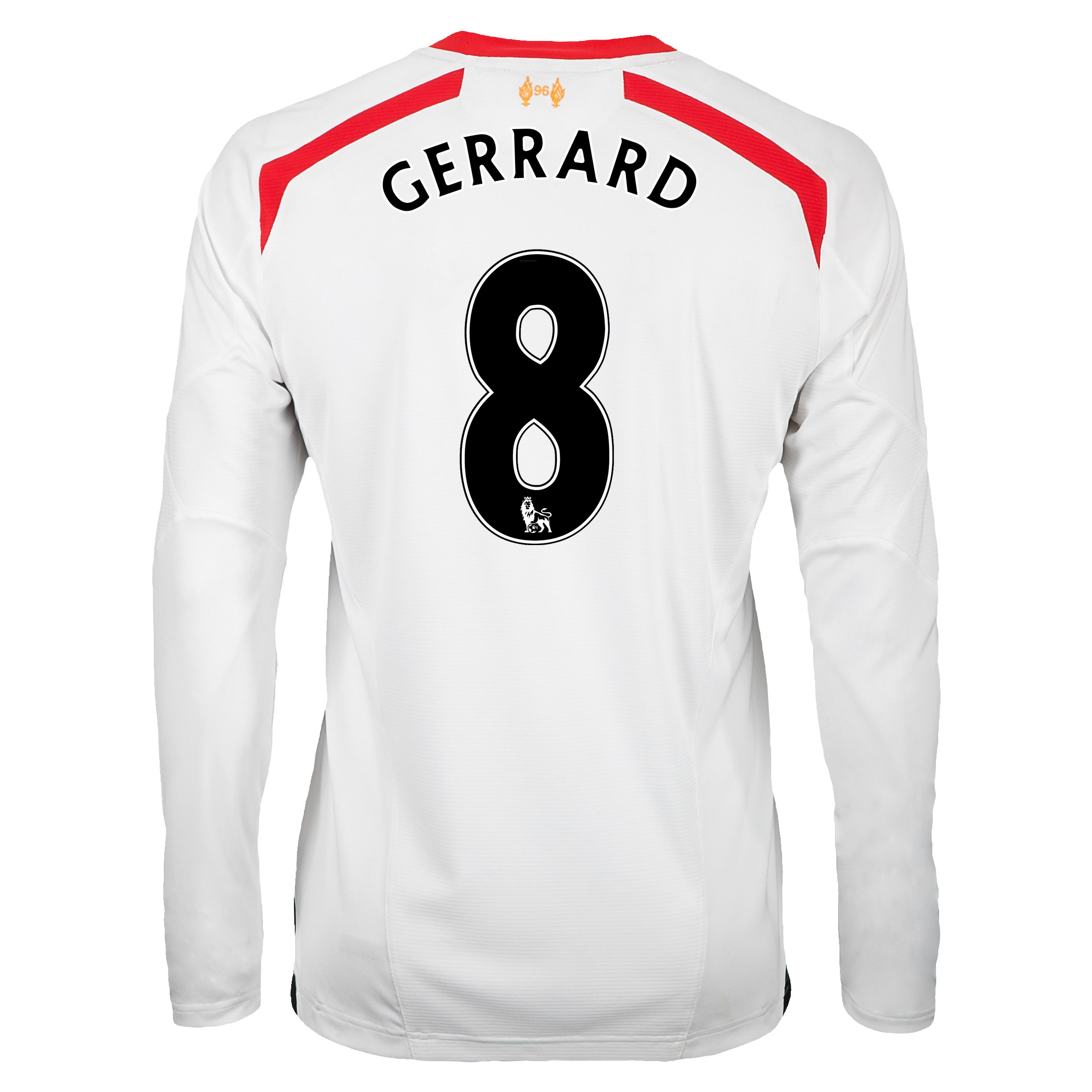 Liverpool Away Shirt 2013/14 - Long Sleeve with Gerrard 8 printing