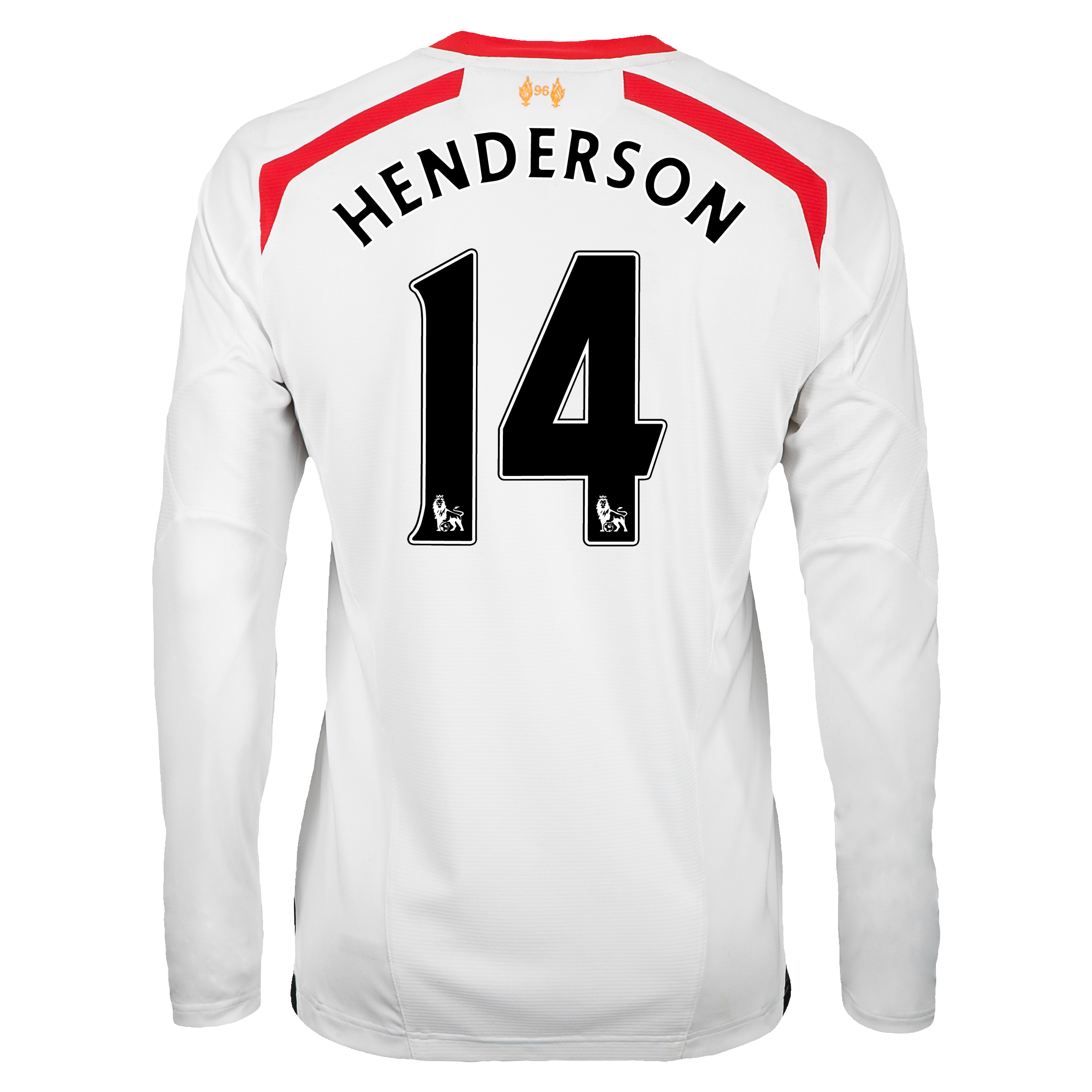 Liverpool Away Shirt 2013/14 - Long Sleeve with Henderson 14 printing