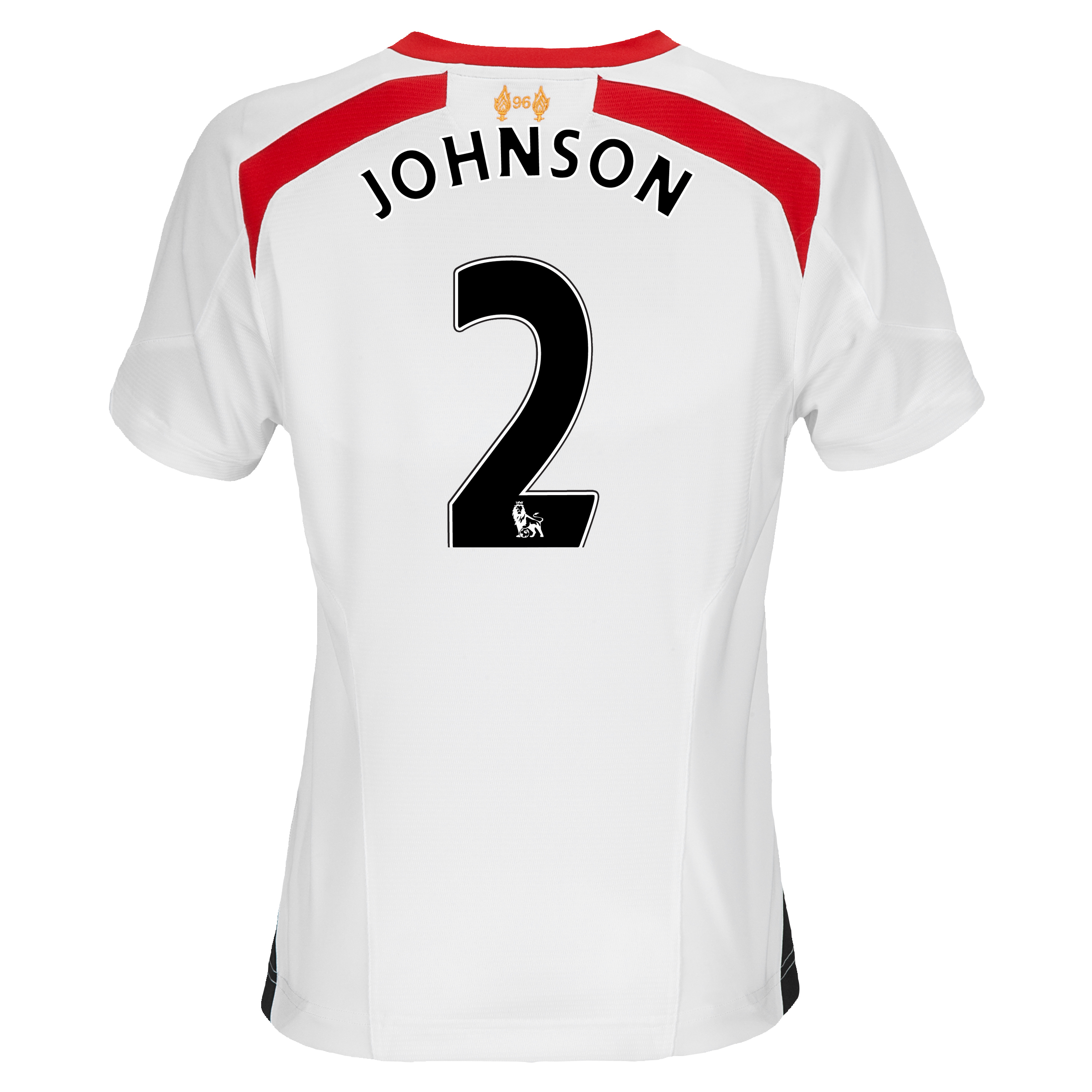 Liverpool Away Shirt 2013/14 - Womens with Johnson 2 printing