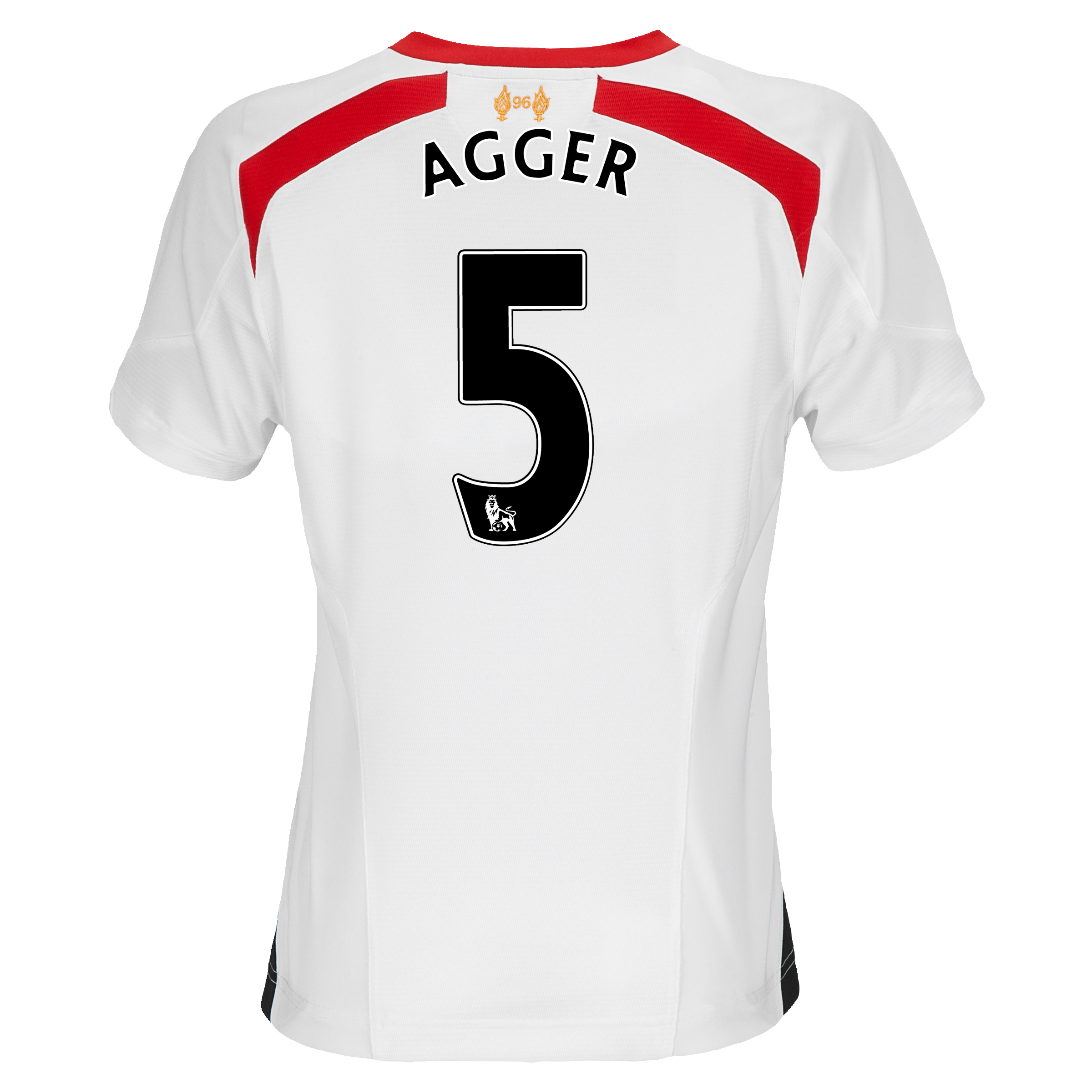 Liverpool Away Shirt 2013/14 - Womens with Agger 5 printing