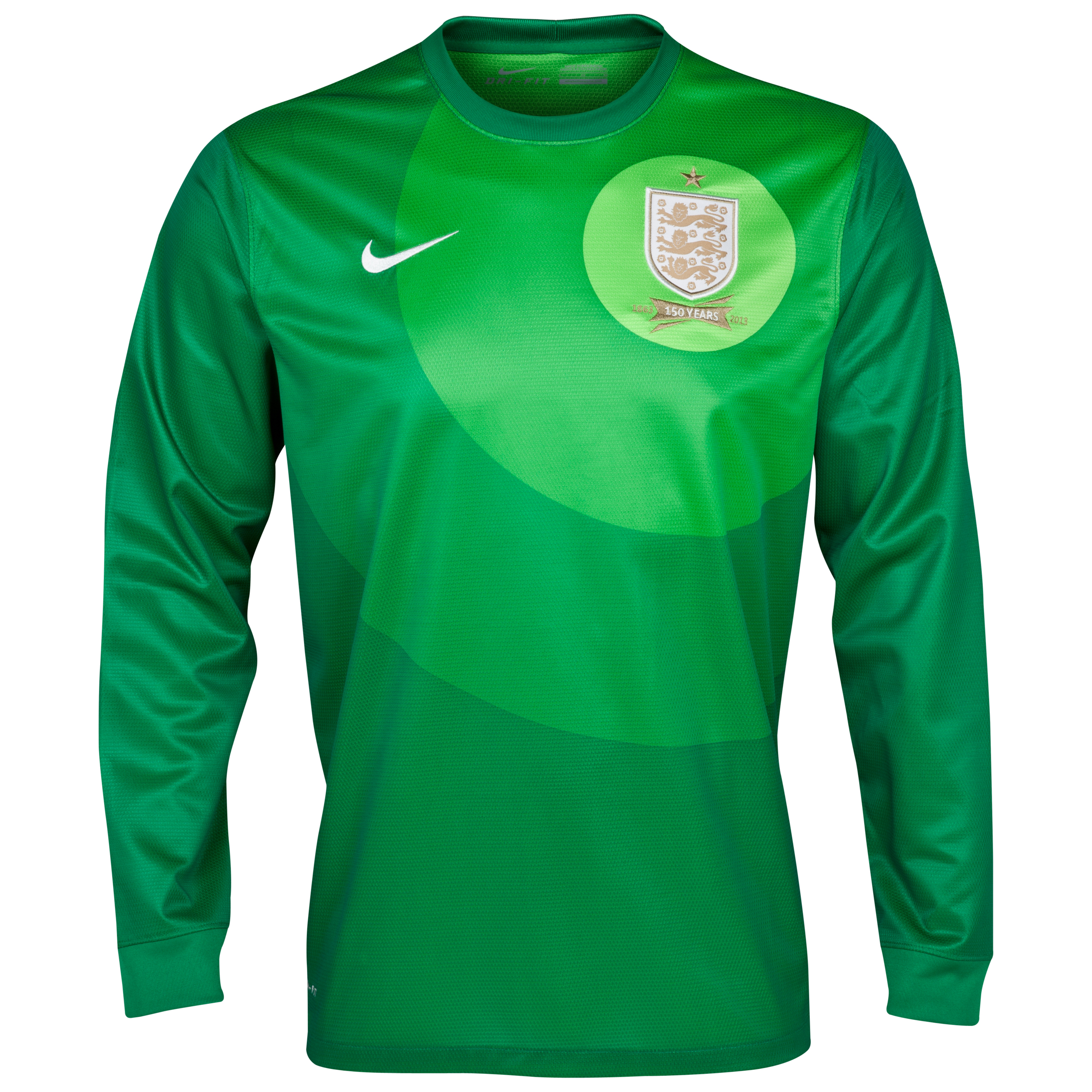 England Home Goalkeeper Shirt 2013/14 - L/S-Mens Green with Hart 1 printing