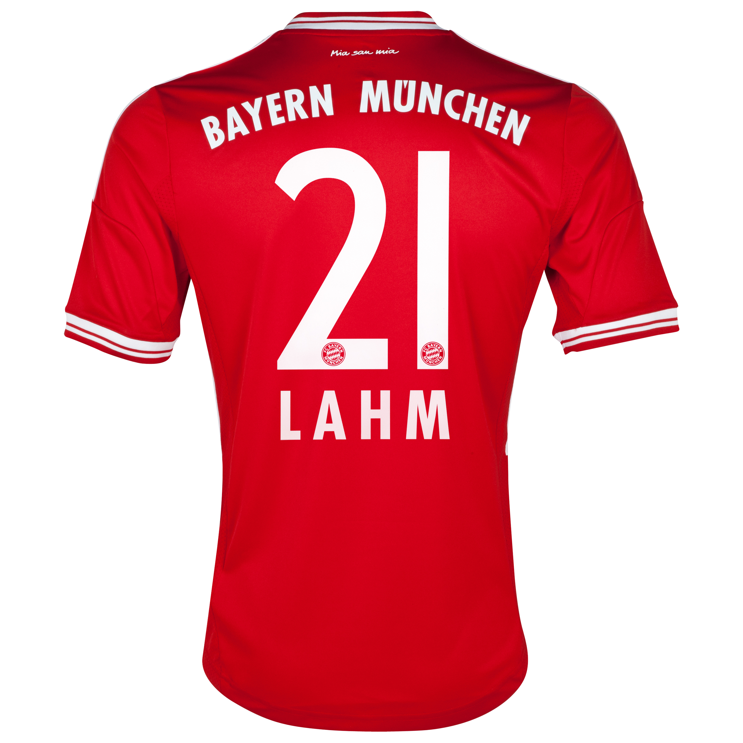 Bayern Munich Home Shirt 2013/14 with Lahm 21 printing